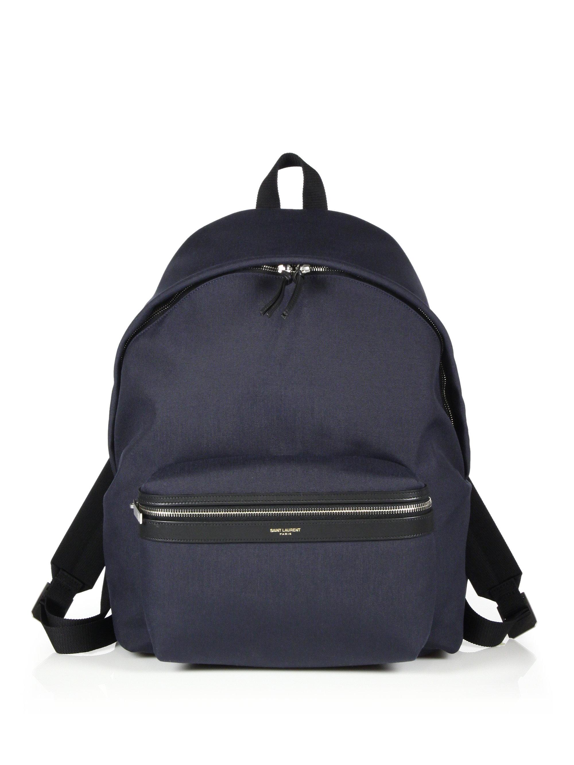 d780ef9ea4 Saint laurent Shell Hunting Backpack in Blue for Men