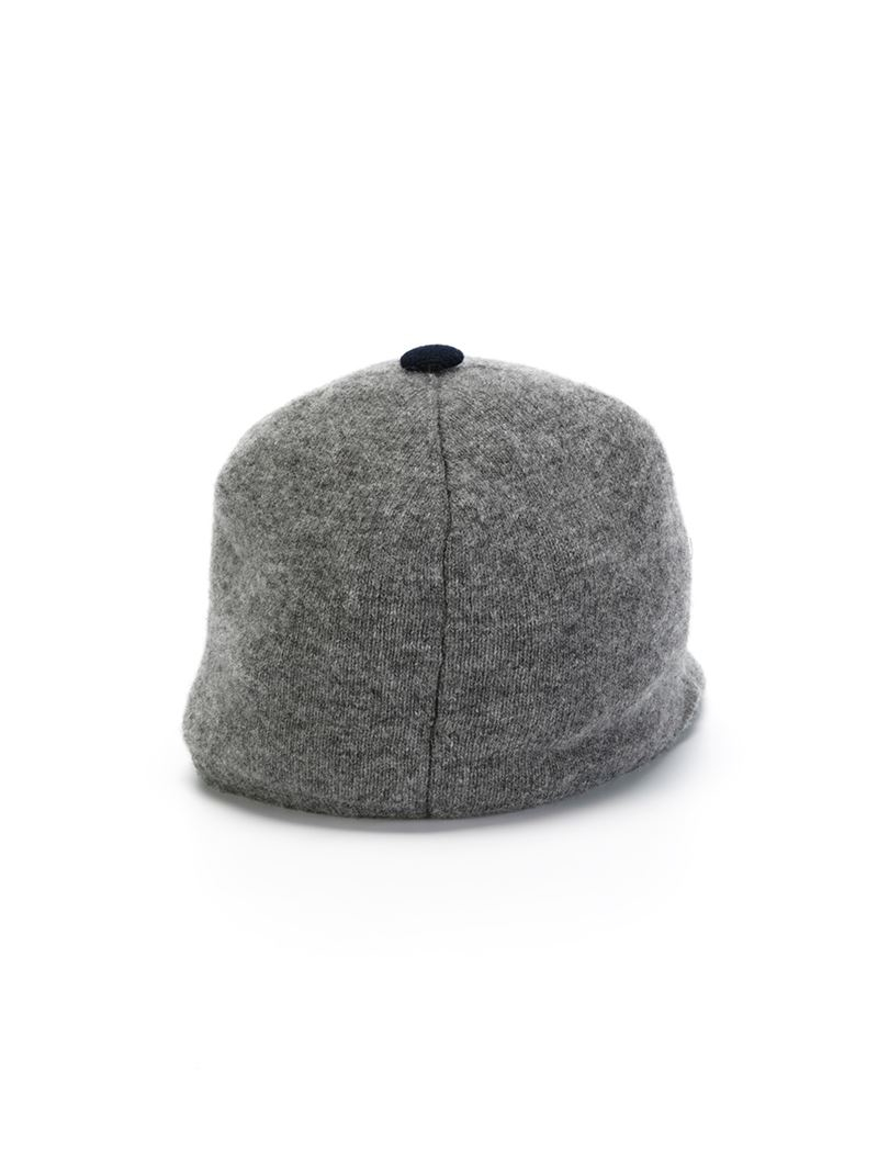 moncler knit baseball cap in gray for lyst