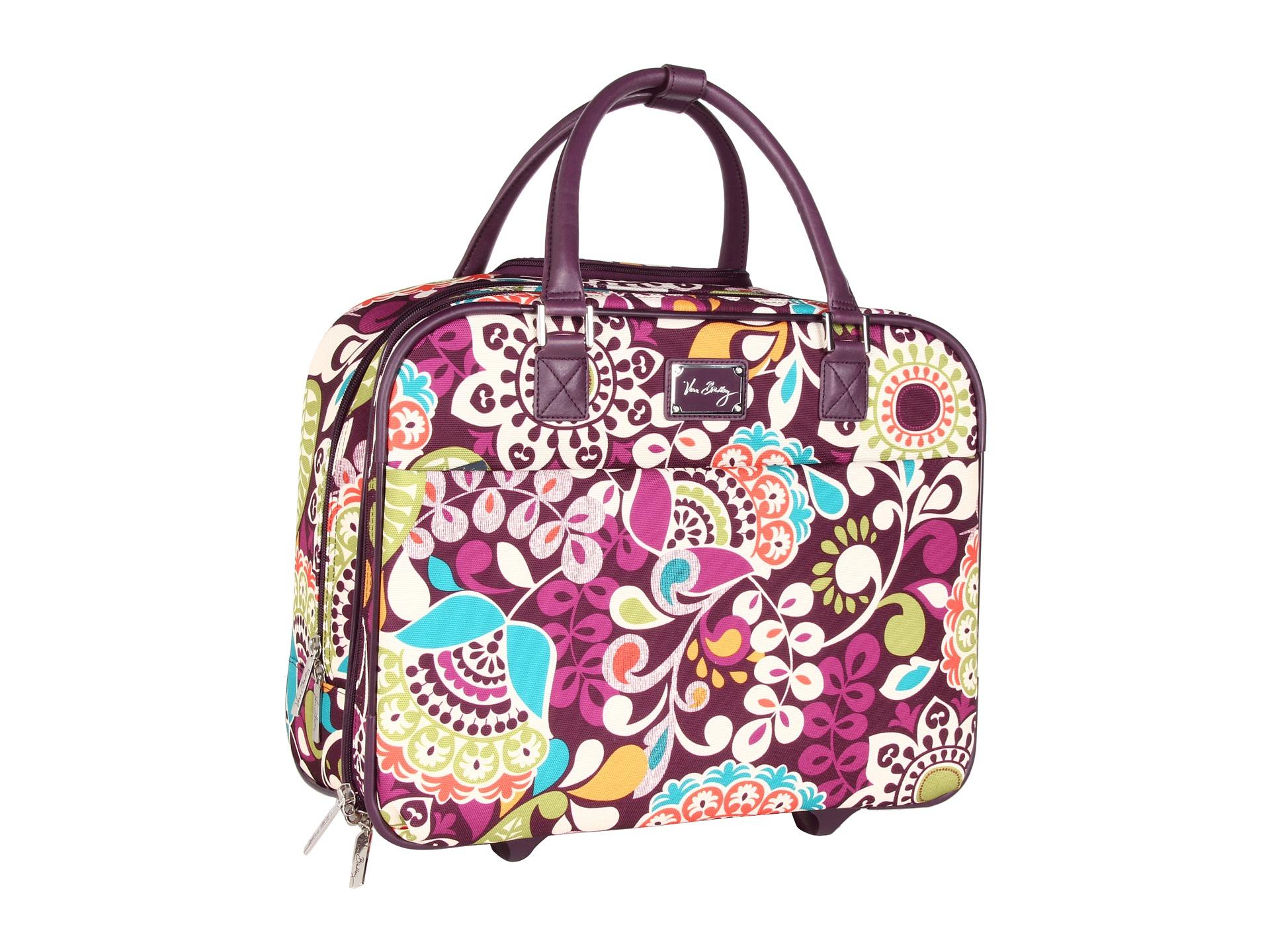 Vera Bradley Luggage Rolling Work Bag in Purple - Lyst