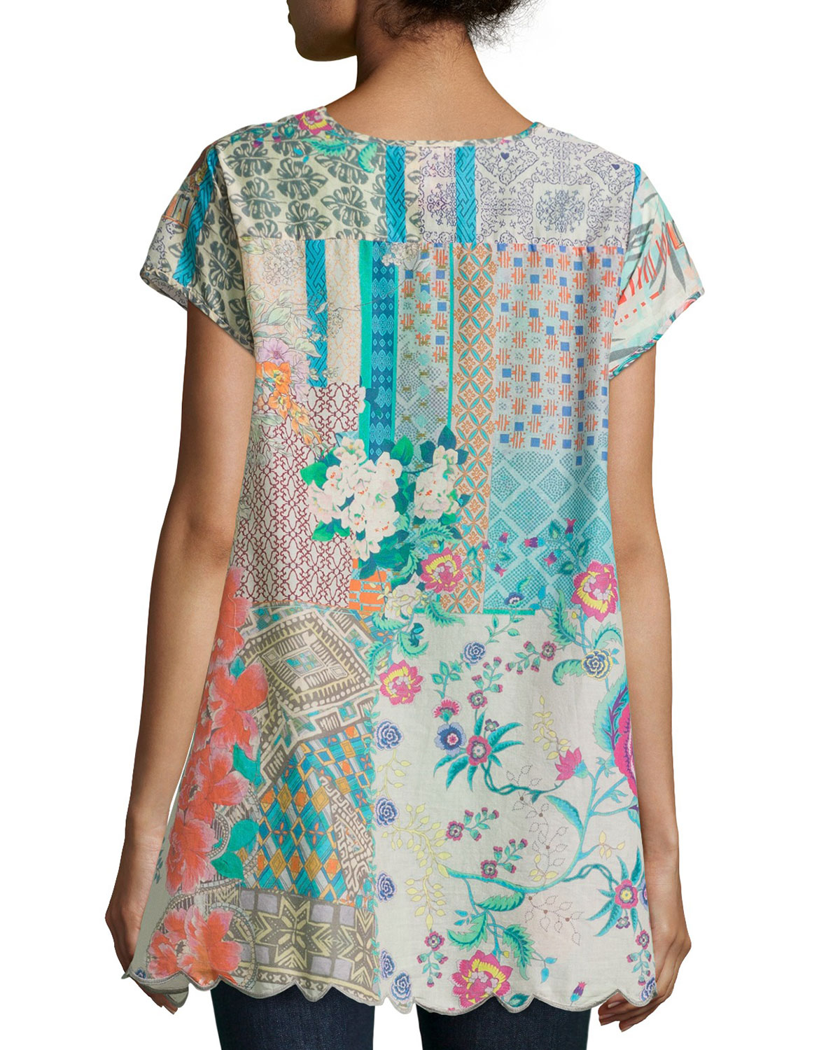 Johnny Was Floral-print Tunic - Lyst