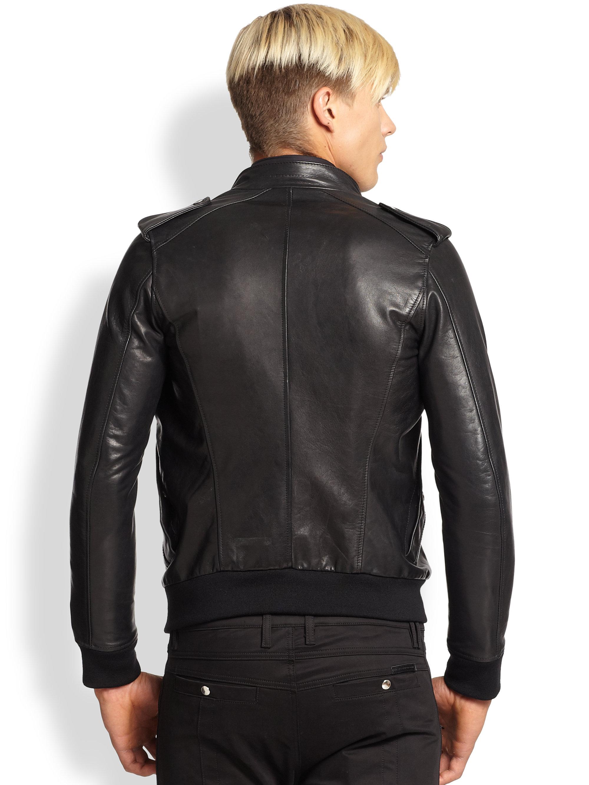 Lyst Diesel Black Gold Embellished Leather Military