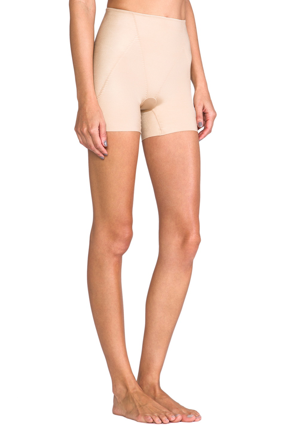 49fd9b2df Spanx Slimplicity Booty Booster Short in Natural - Lyst