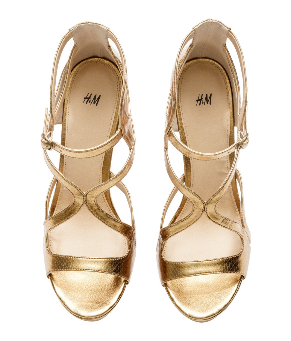Lyst H Amp M Sandals In Metallic