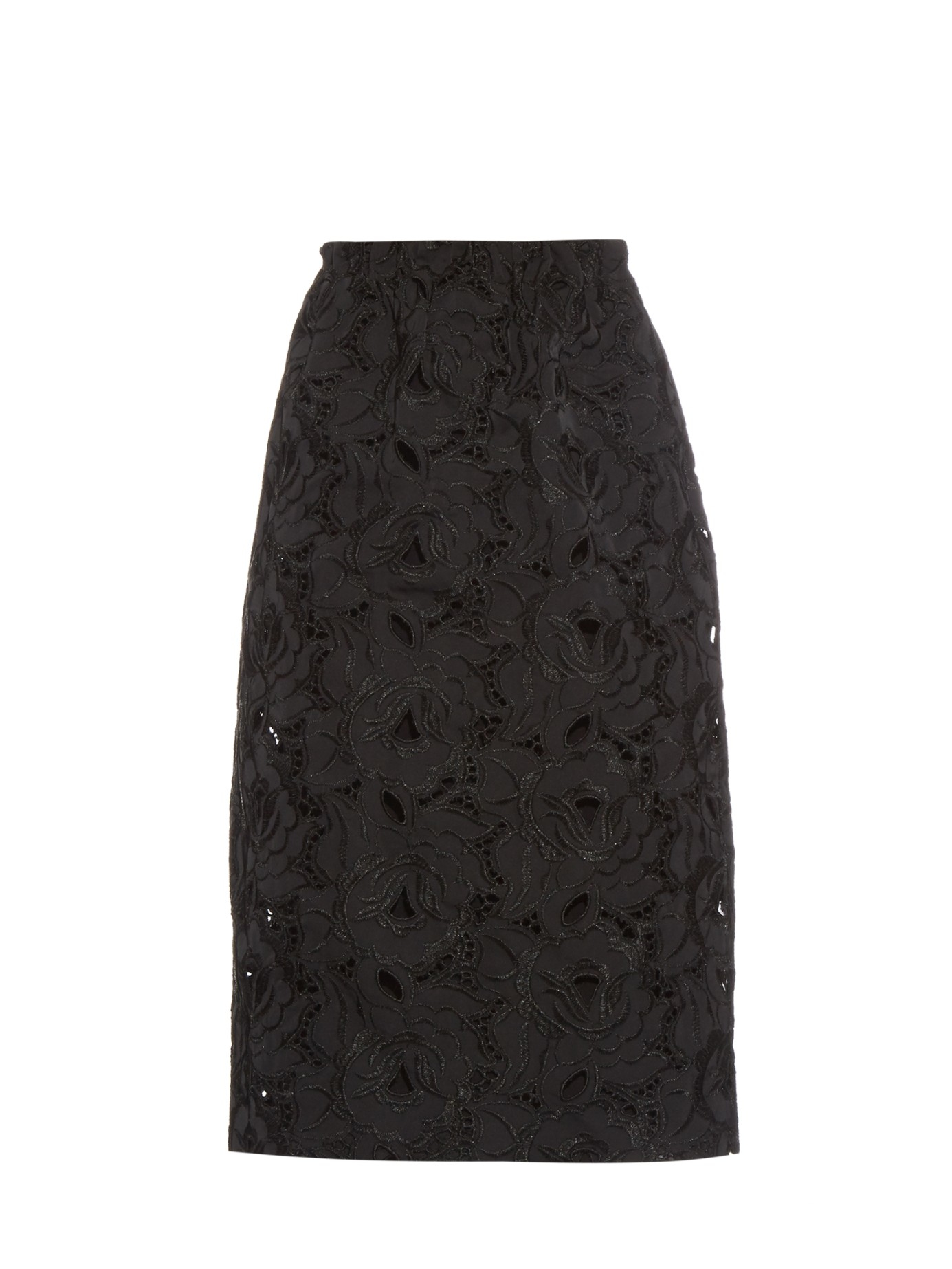 n 176 21 floral embroidered midi skirt in black lyst