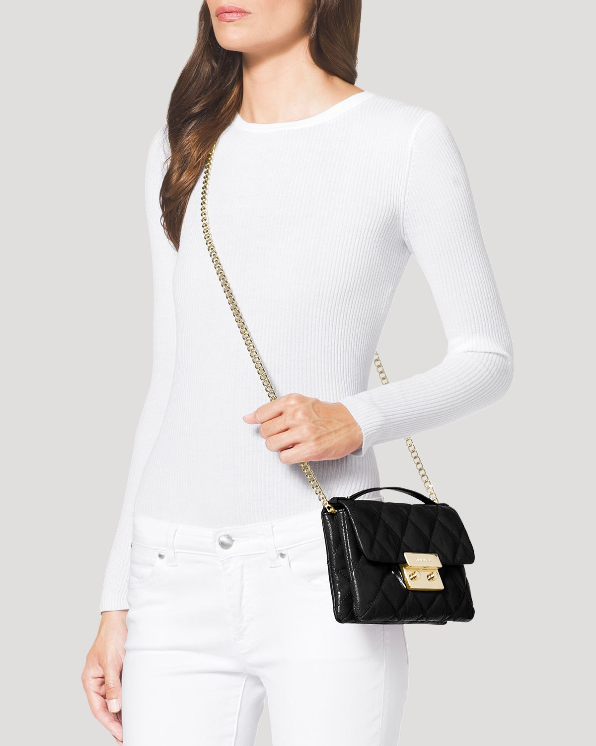 2a54b75c7c92 Gallery. Previously sold at  Bloomingdale s · Women s Michael Kors Quilted  Bag Women s Michael By Michael Kors Sloan