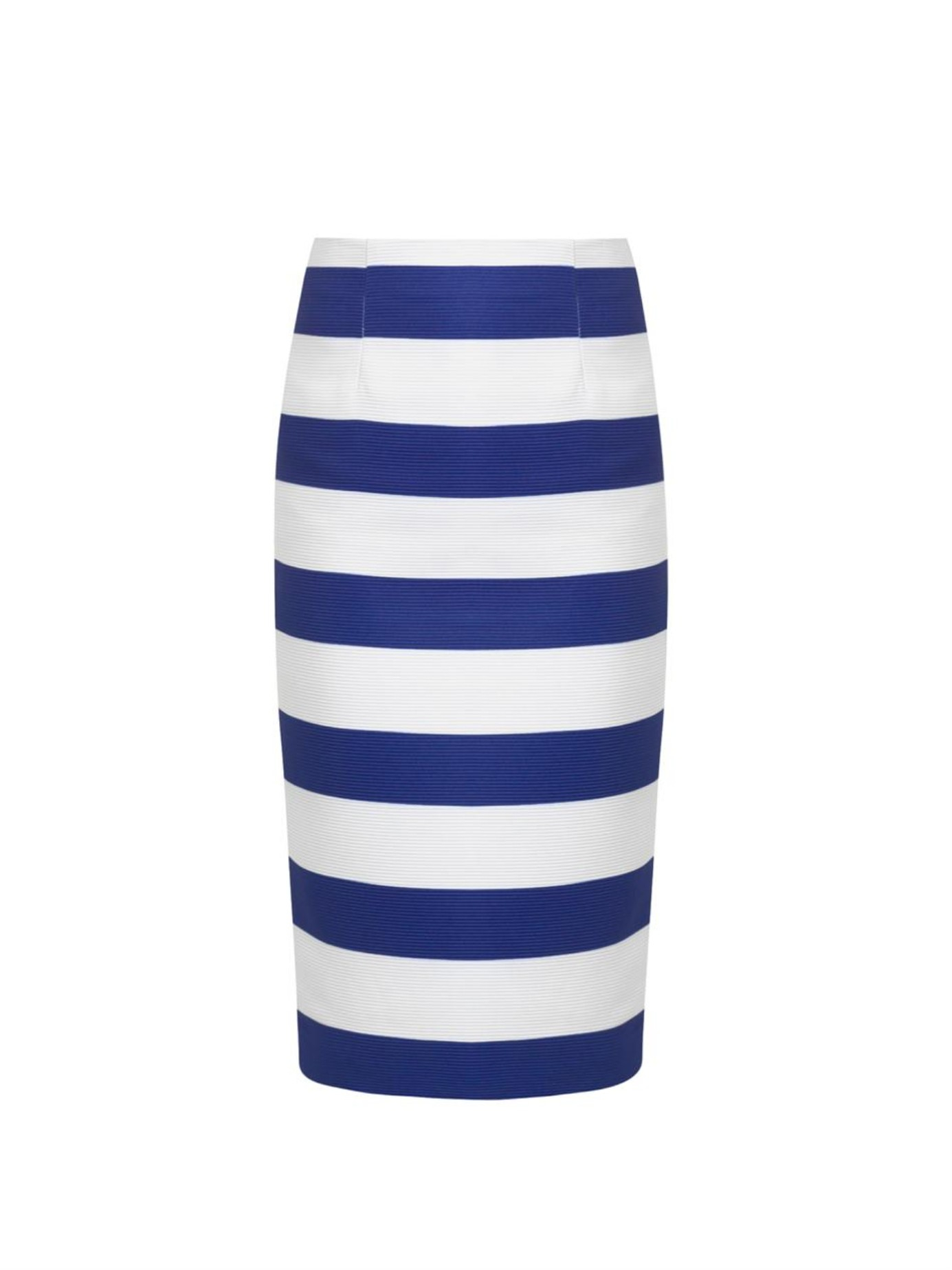 Try it on with white tee tucked in blue-white striped high-rise pencil skirt: A perfect weekends match! Go for pale turquoise cropped sleeveless top and pair it with black and white striped flared skirt.
