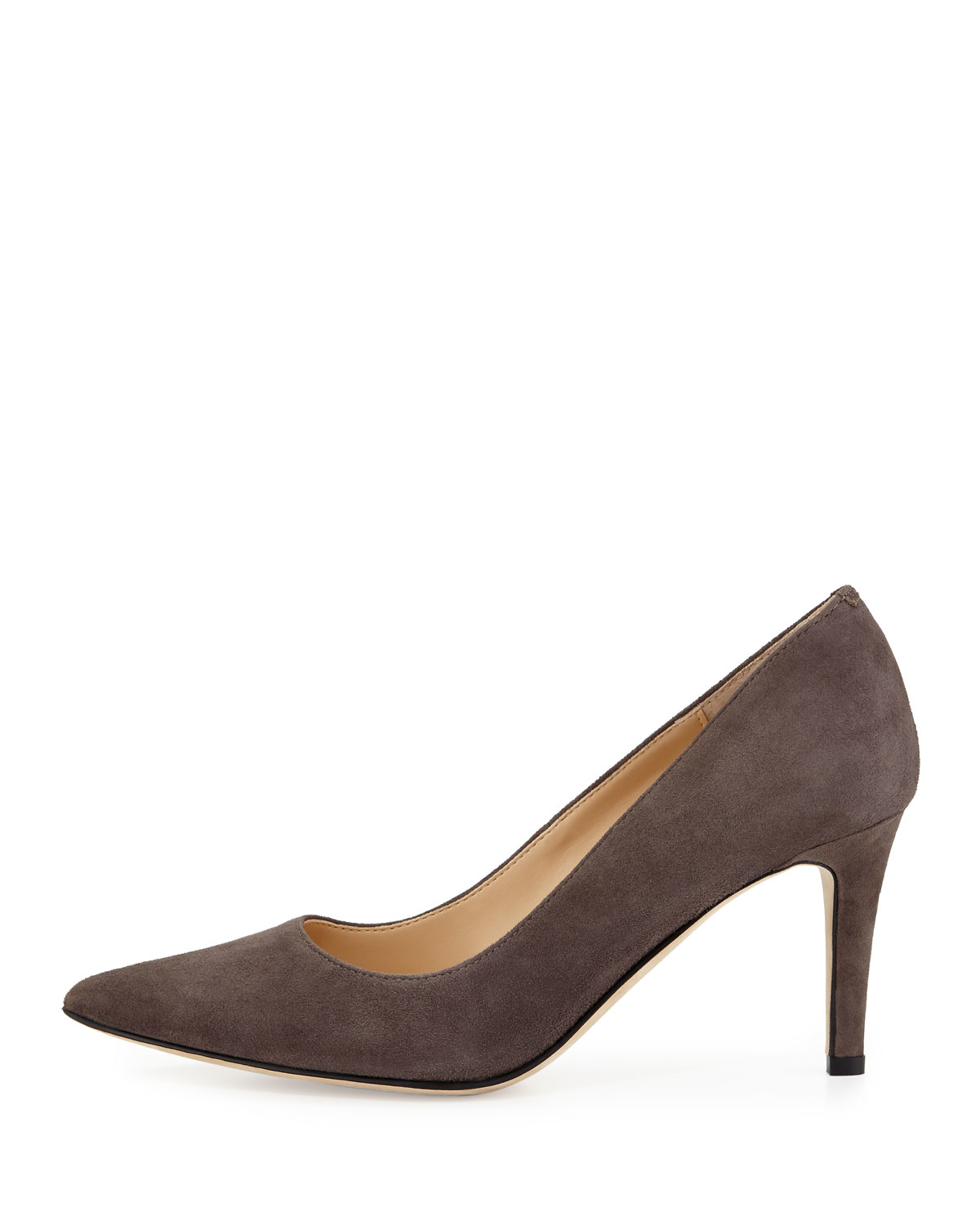 Lyst Neiman Marcus Cissy Pointed Toe Suede Pump In Brown