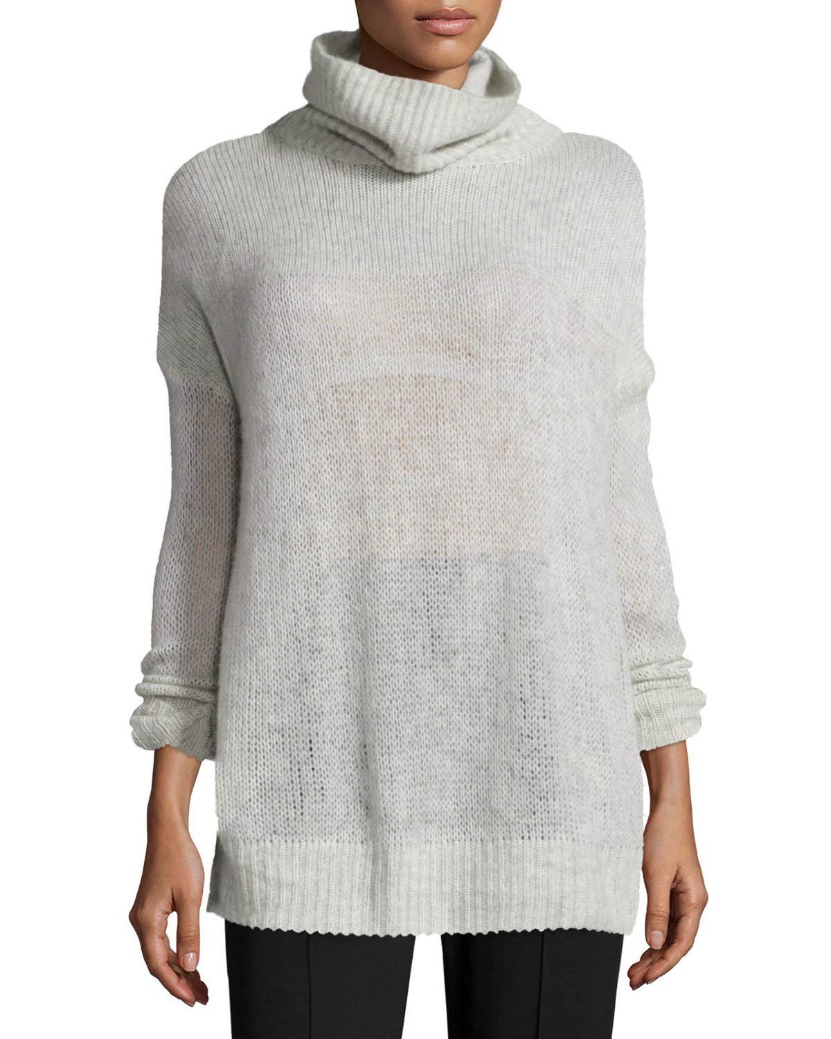 Womens grey cashmere sweater for and spencer sale