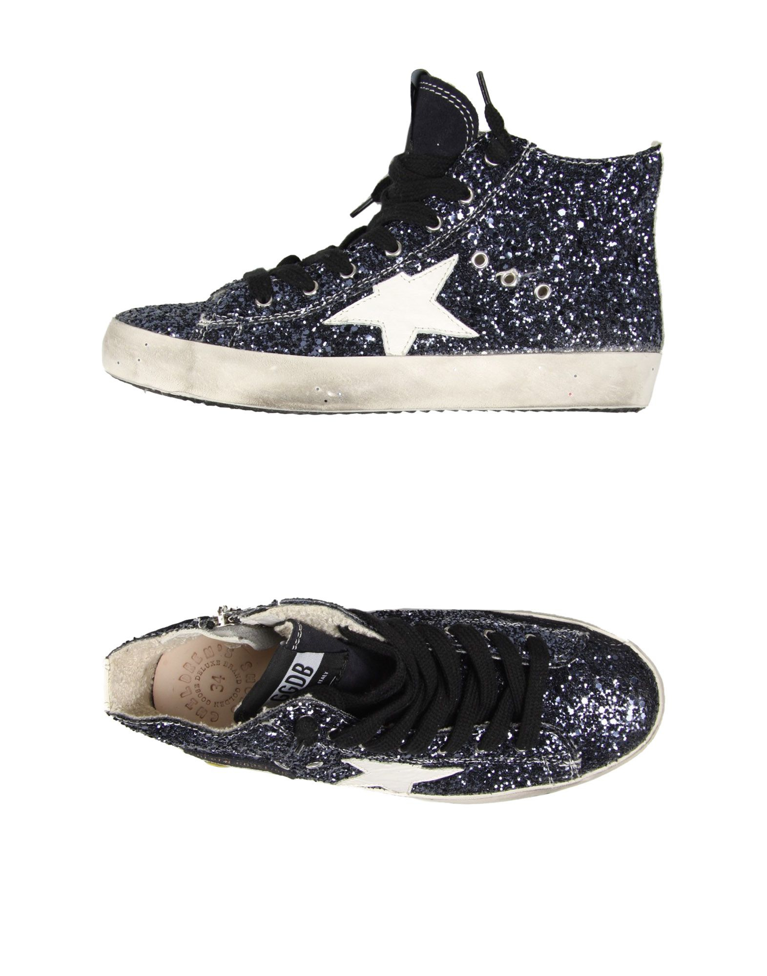 golden goose deluxe brand blue high tops trainers lyst. Black Bedroom Furniture Sets. Home Design Ideas