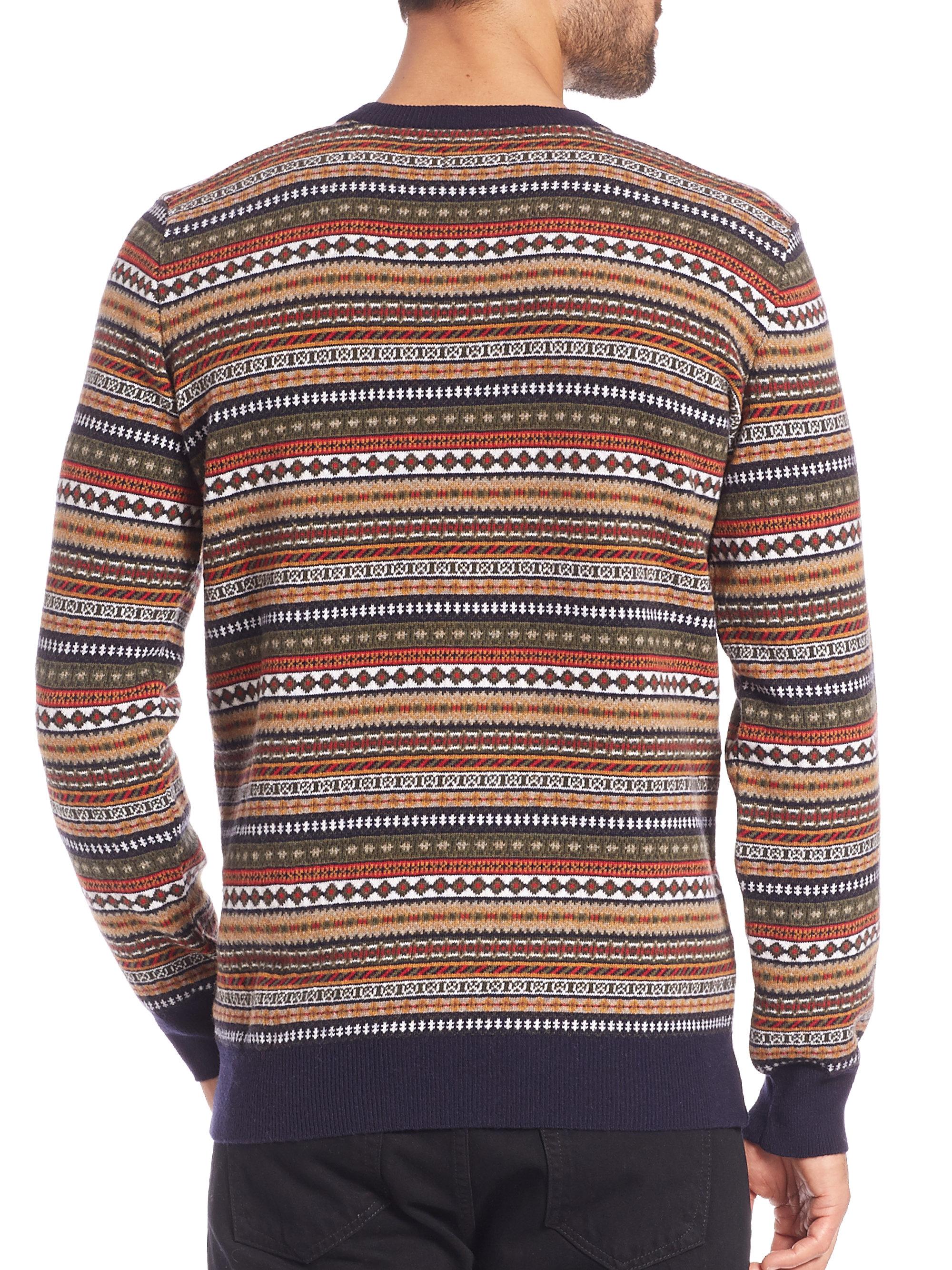 Barbour Easton Fair Isle Crewneck Sweater for Men | Lyst