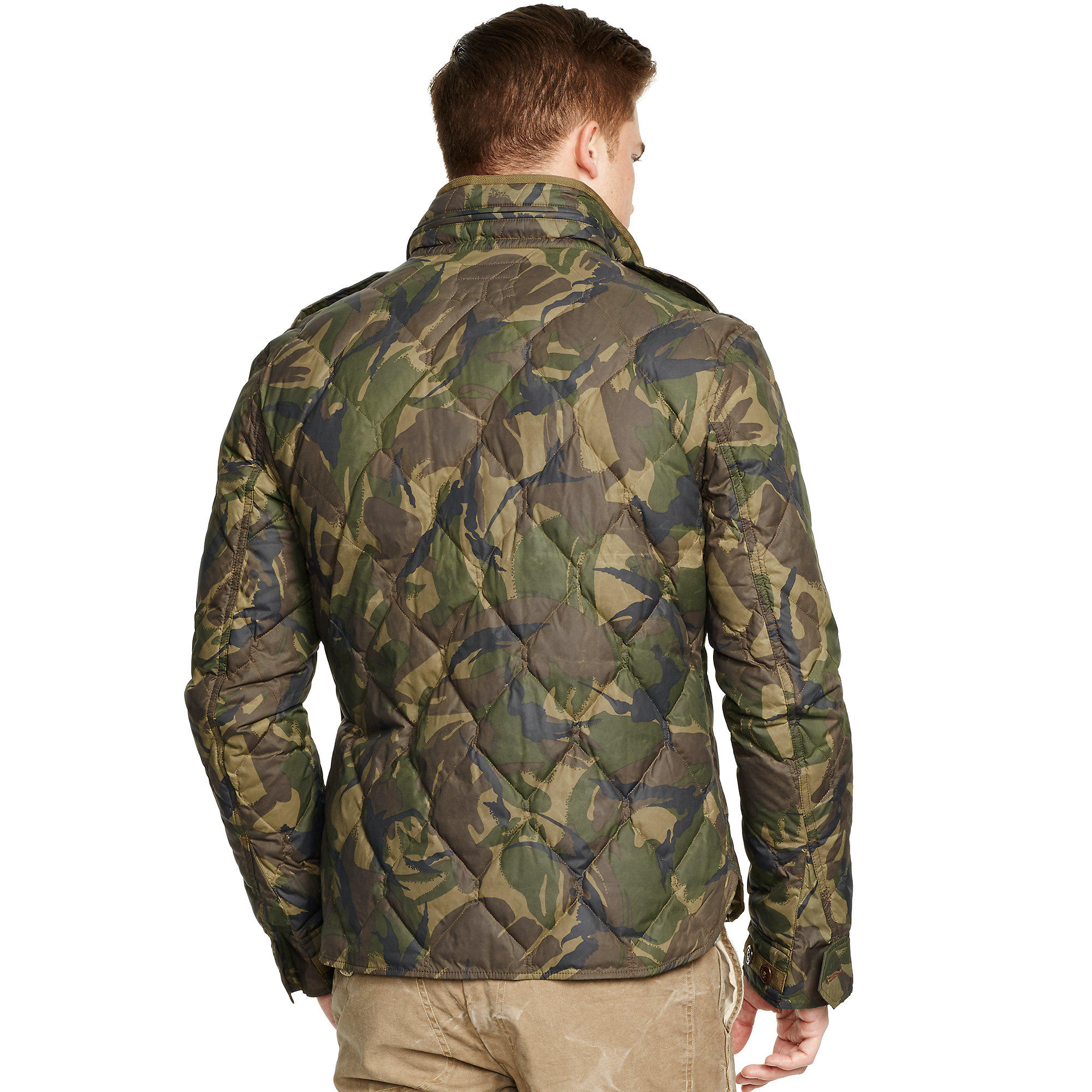Lyst Polo Ralph Lauren Quilted Camouflage Down Jacket In