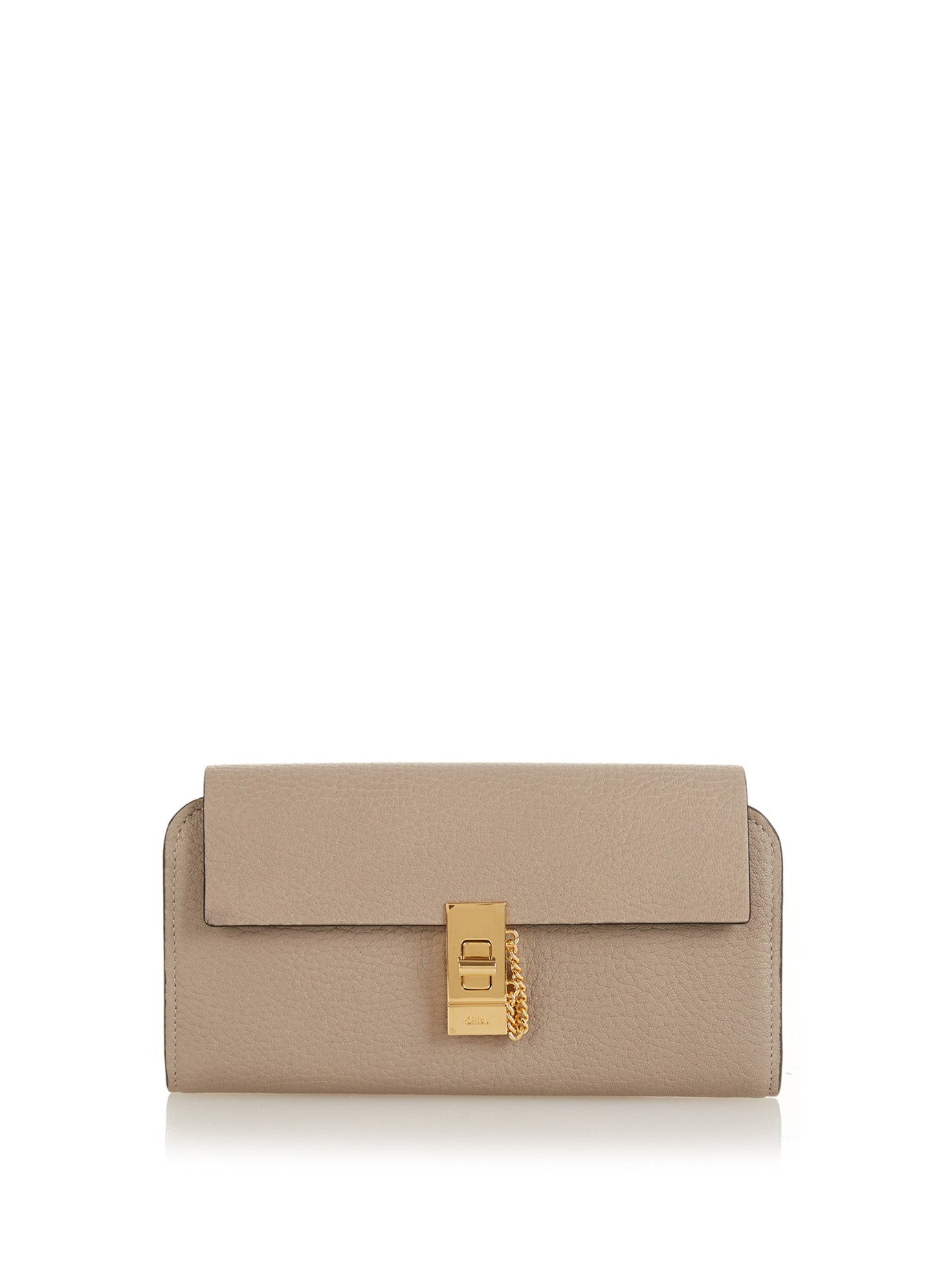 Chlo�� Drew Grained-Leather Continental Wallet in Gray (GREY)   Lyst