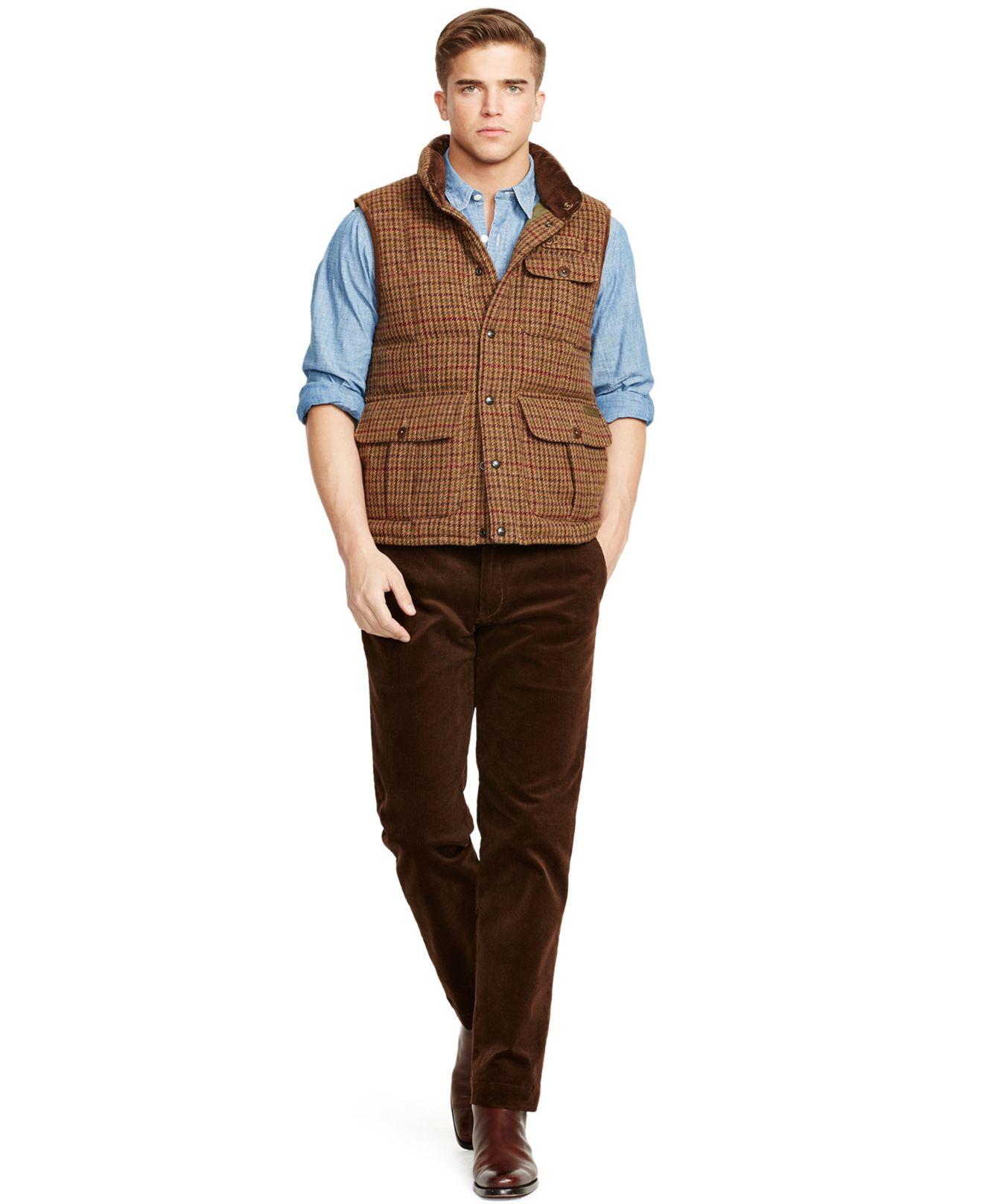 Lyst - Polo Ralph Lauren Mayfield Tweed Vest in Brown for Men