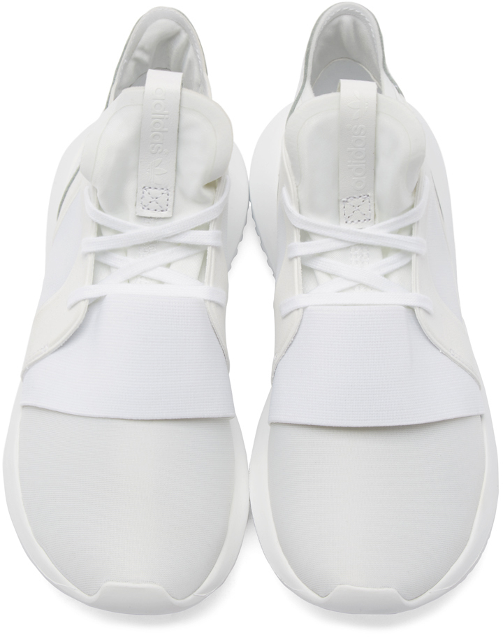 Adidas Originals White Tubular Defiant Sneakers