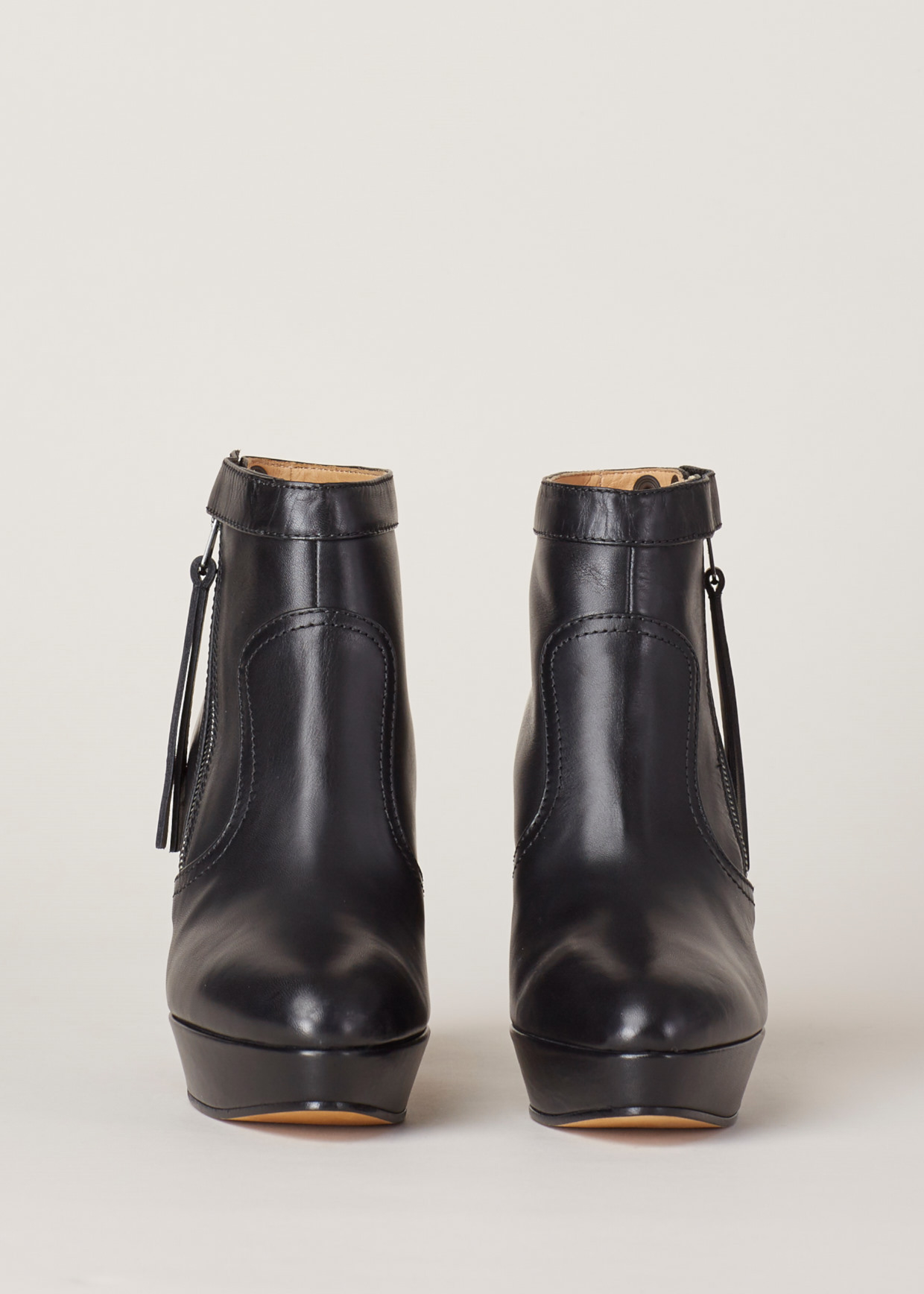 a45cb533ac8 Acne Studios Track Leather Ankle Boots in Black - Lyst
