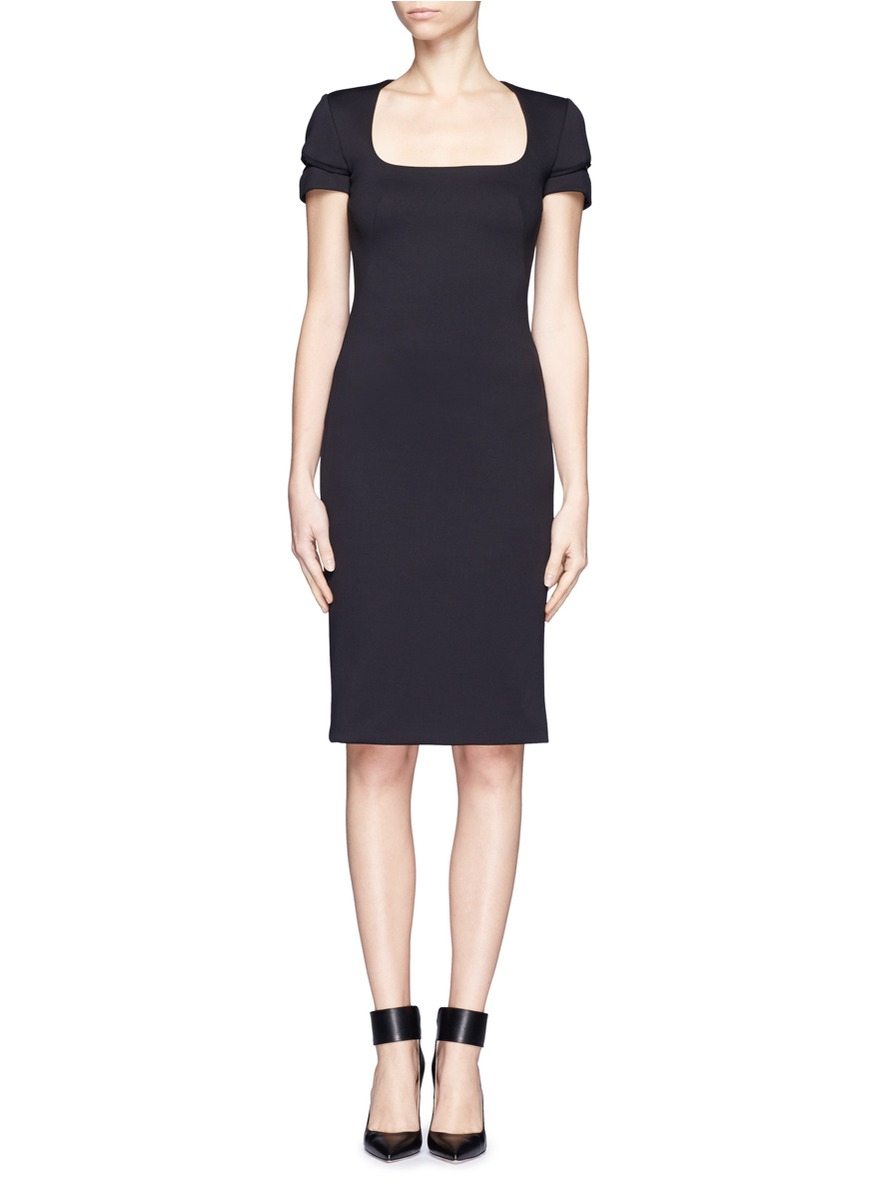 0eecdfe8a7 Alexander McQueen Slit Sleeve Neoprene Dress in Black - Lyst