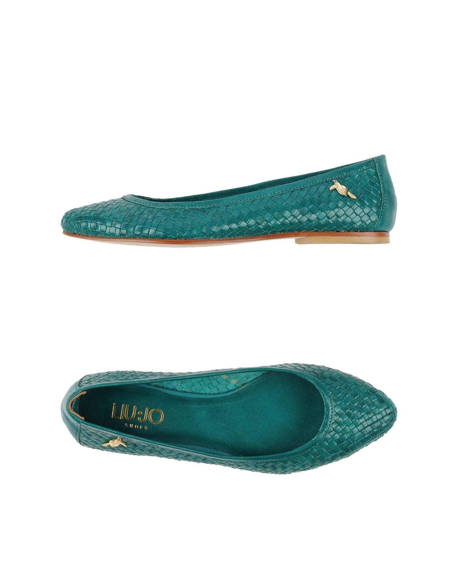 Green Ballet Flat Shoes