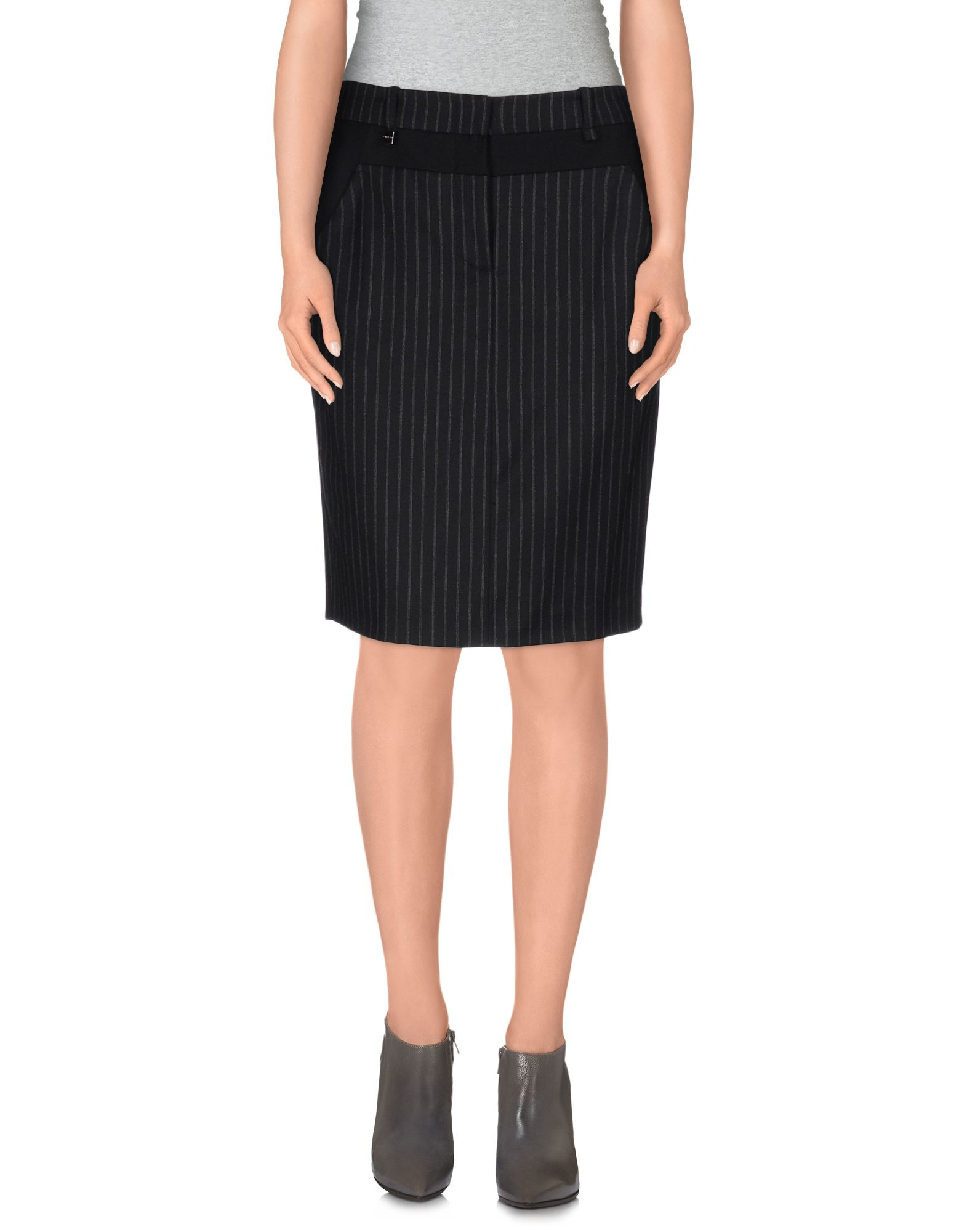 pinko knee length skirt in black lyst