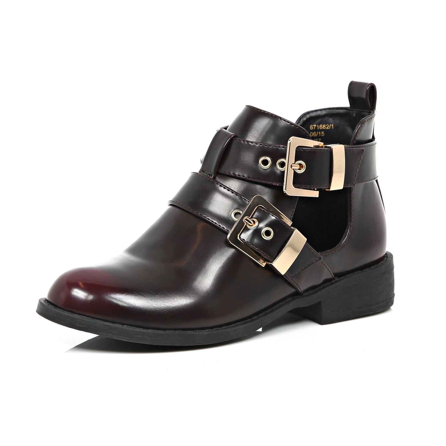 river island cut out buckle ankle boots in lyst