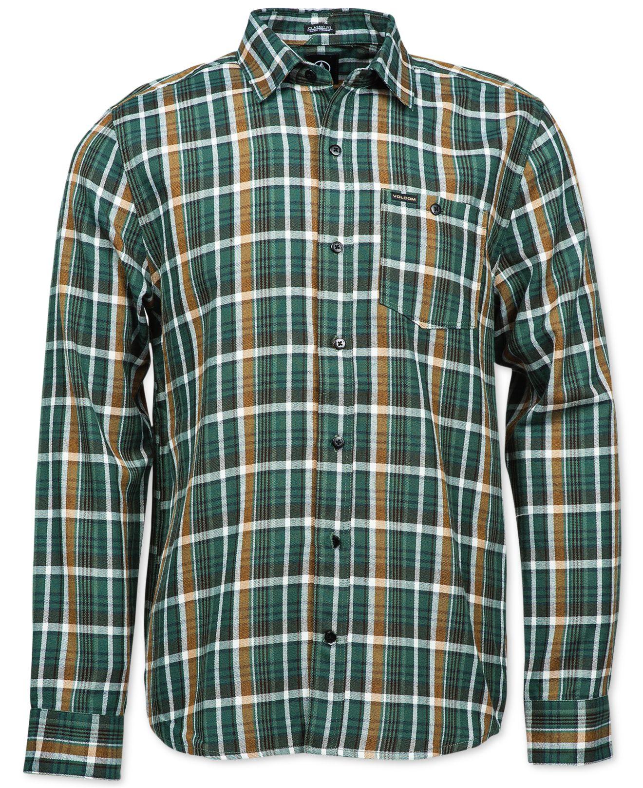 Lyst Volcom Bartlett Plaid Flannel Long Sleeve Shirt In
