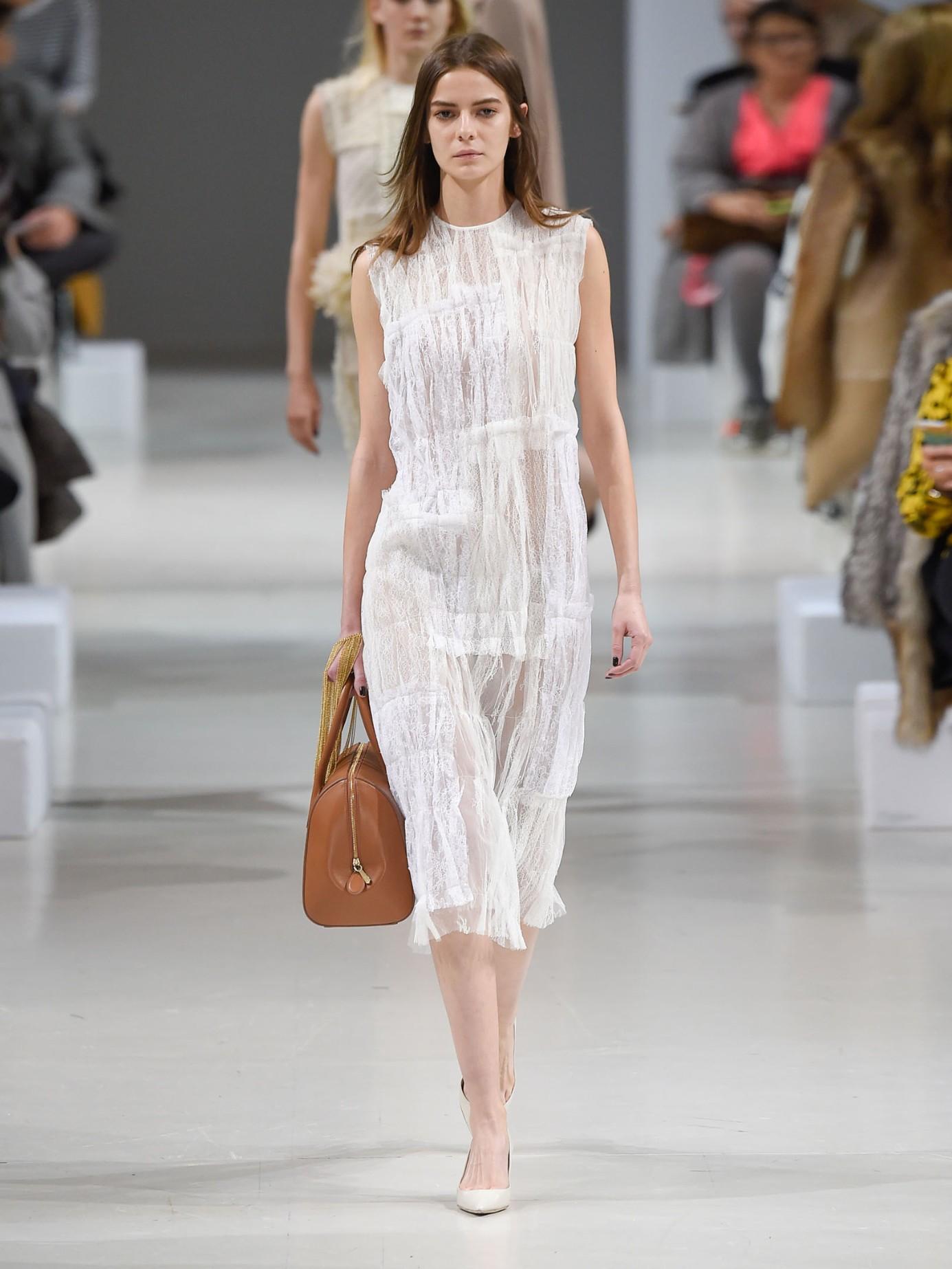 Lyst Nina Ricci Chantilly Lace Sleeveless Dress In White
