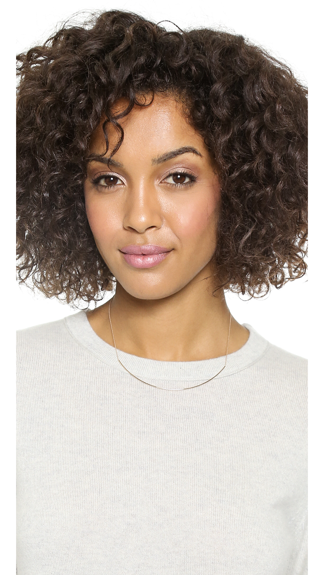 Ginette NY Arc Necklace Rose Gold in Metallic