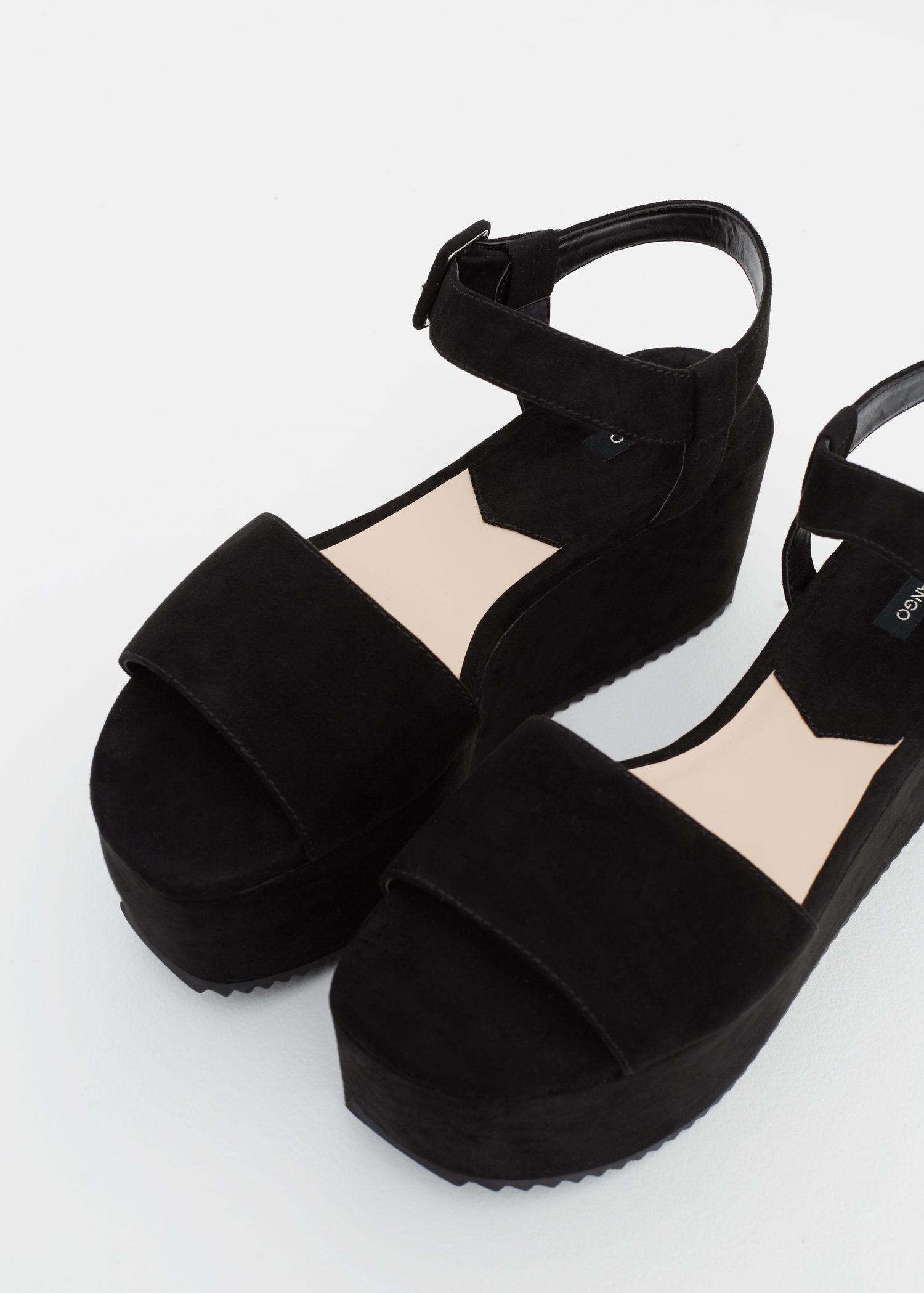 f6d5e20bcb7 Lyst - Mango Platfrom Ankle-cuff Sandals in Black