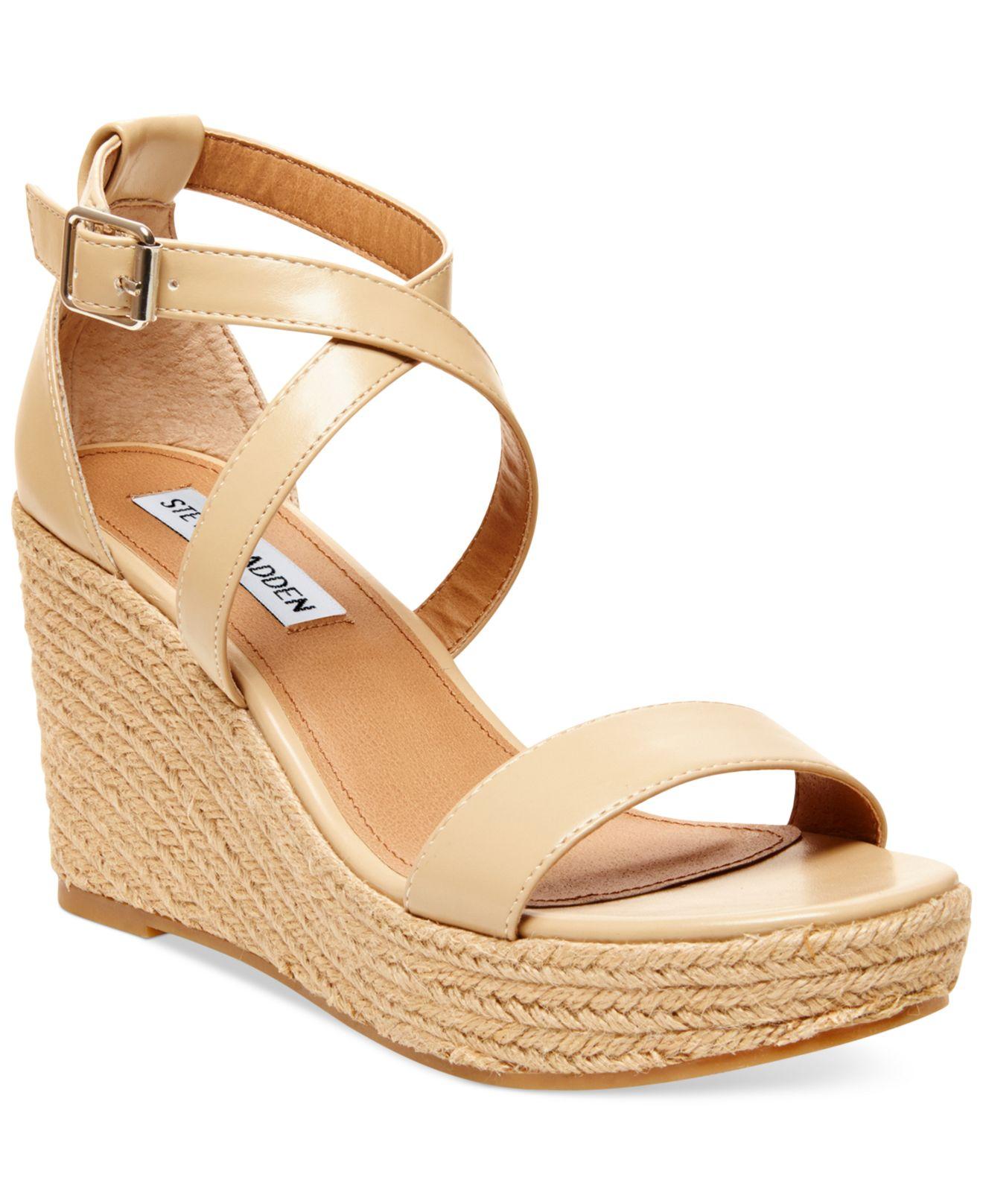 e37395459d4 Steve Madden Natural Women's Montaukk Platform Wedge Sandals