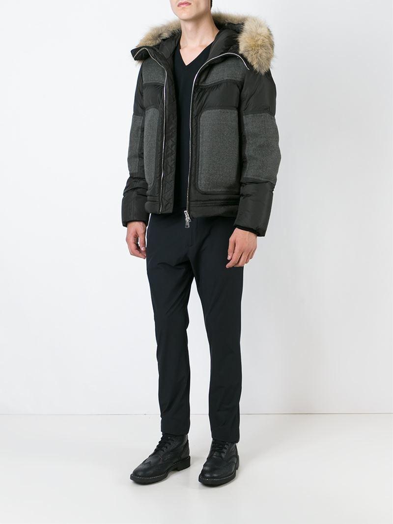 Moncler Wool 'dedion' Padded Jacket in Black for Men