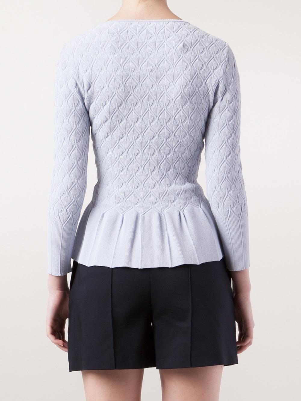 Peplum Cardigan Sweater