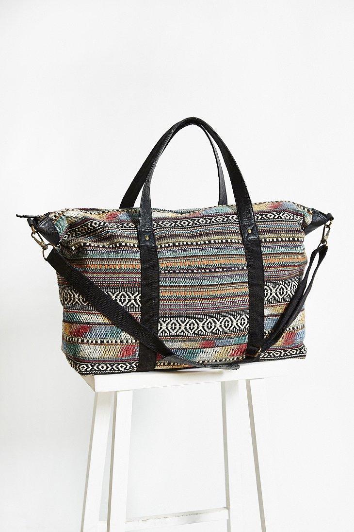 Bdg Brown Pattern Weekender Bag