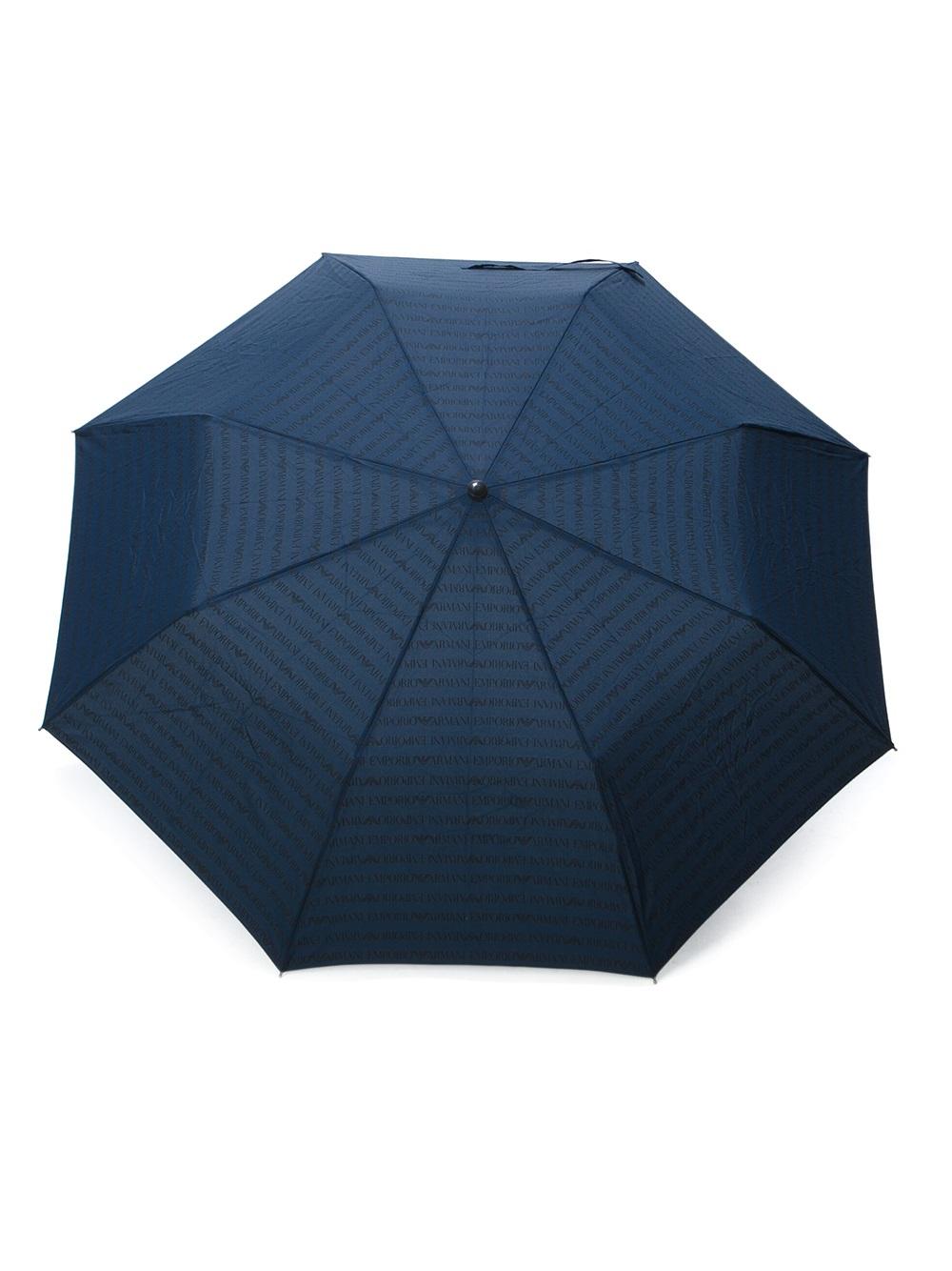 elegantes und robustes Paket große Auswahl das beste Emporio Armani Blue Monogrammed Umbrella