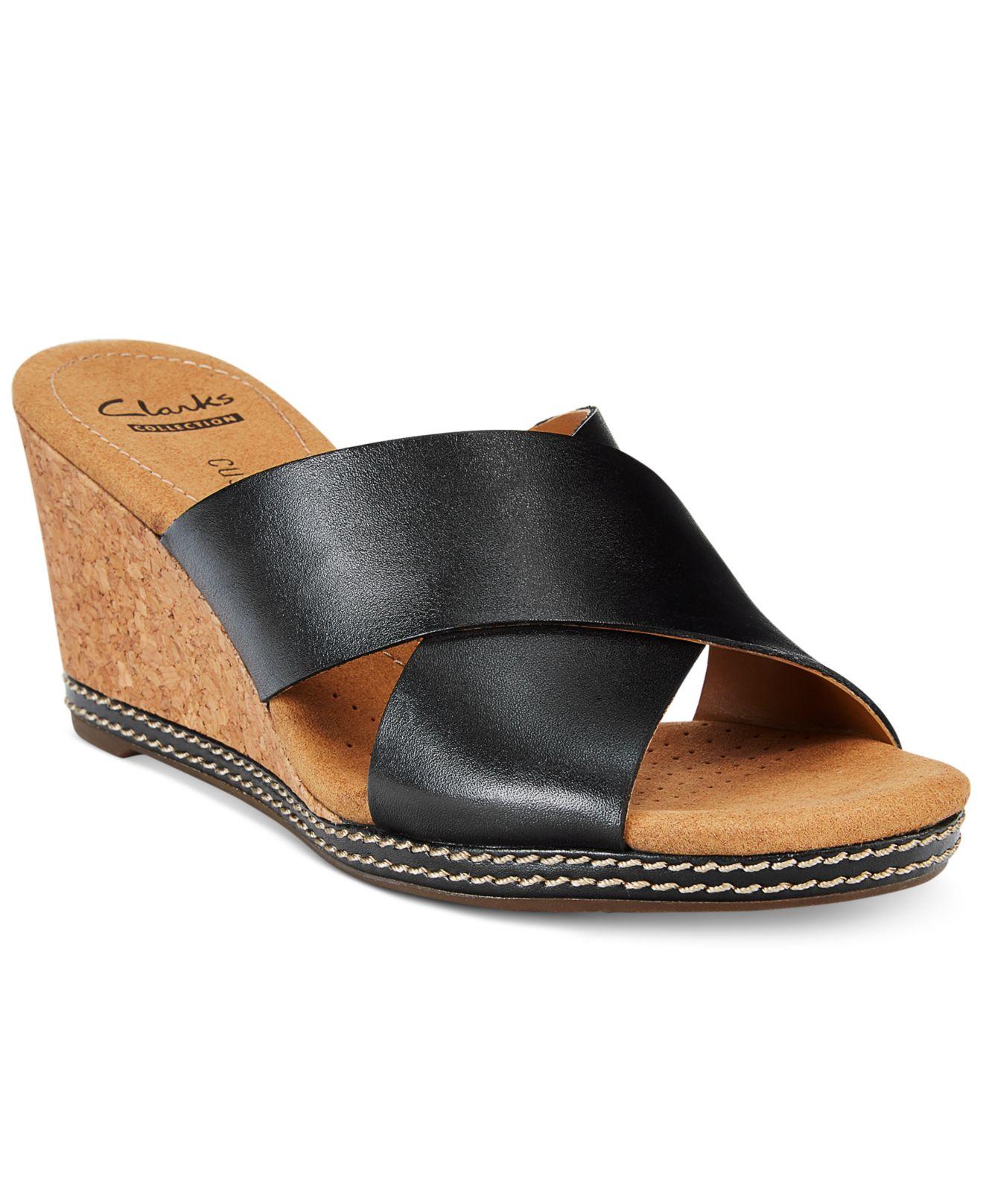 Elegant  Womens Shoes  Sandals  Wedge Sandals  Clarks Womens Wedge