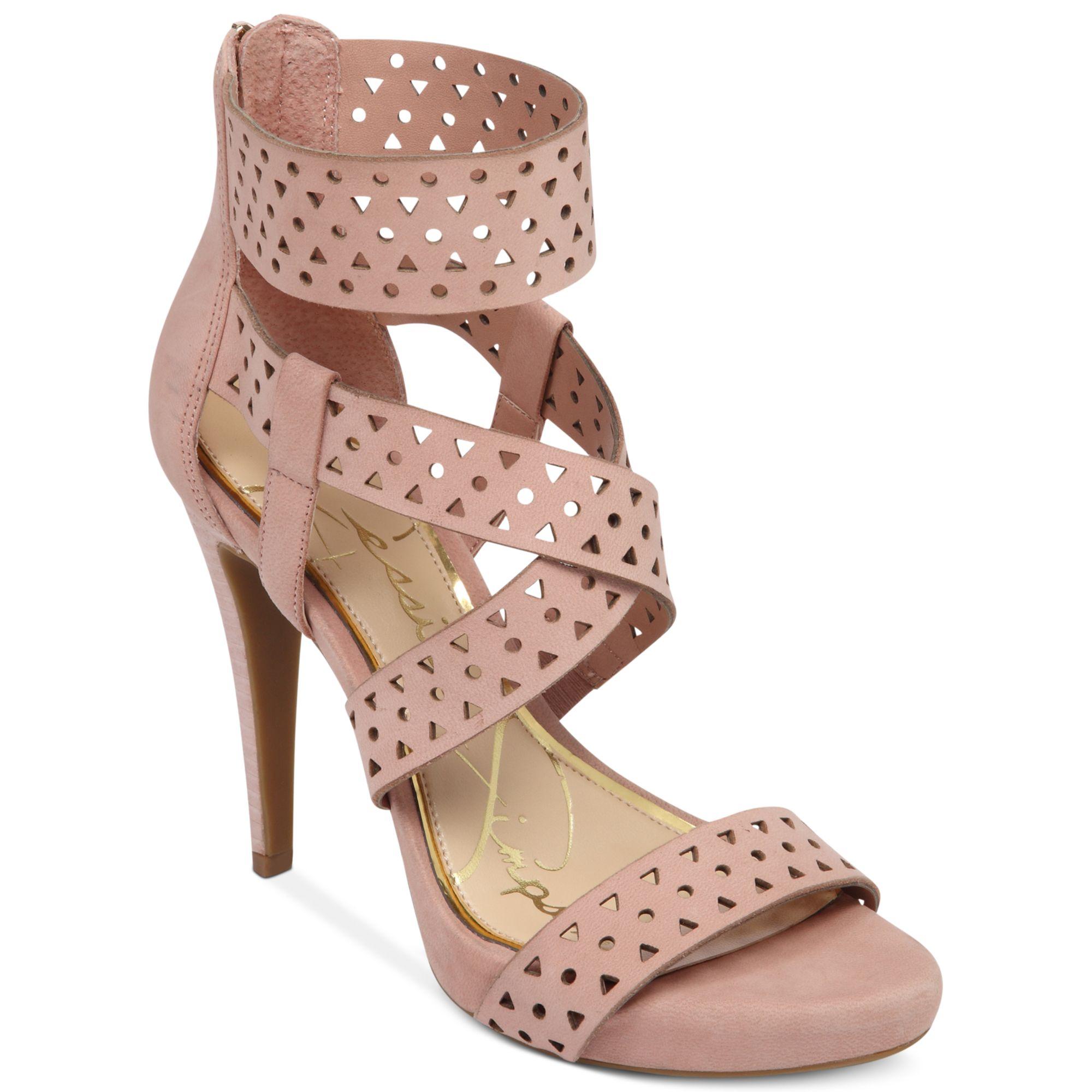 9520d89ce71 Jessica Simpson Pink Chinah Laser Cut Platform Sandals