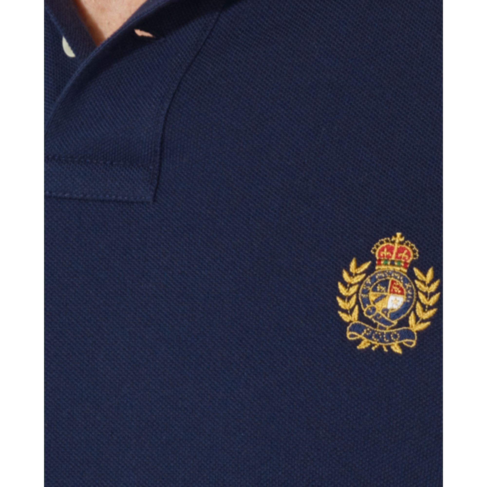 Lyst Ralph Lauren Polo Classicfit Heritage Crest Mesh