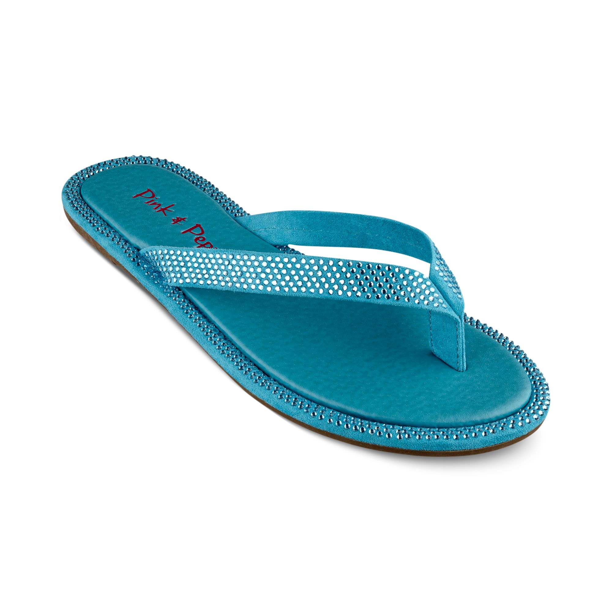 Lyst Pink And Pepper Edgie Flip Flops In Blue
