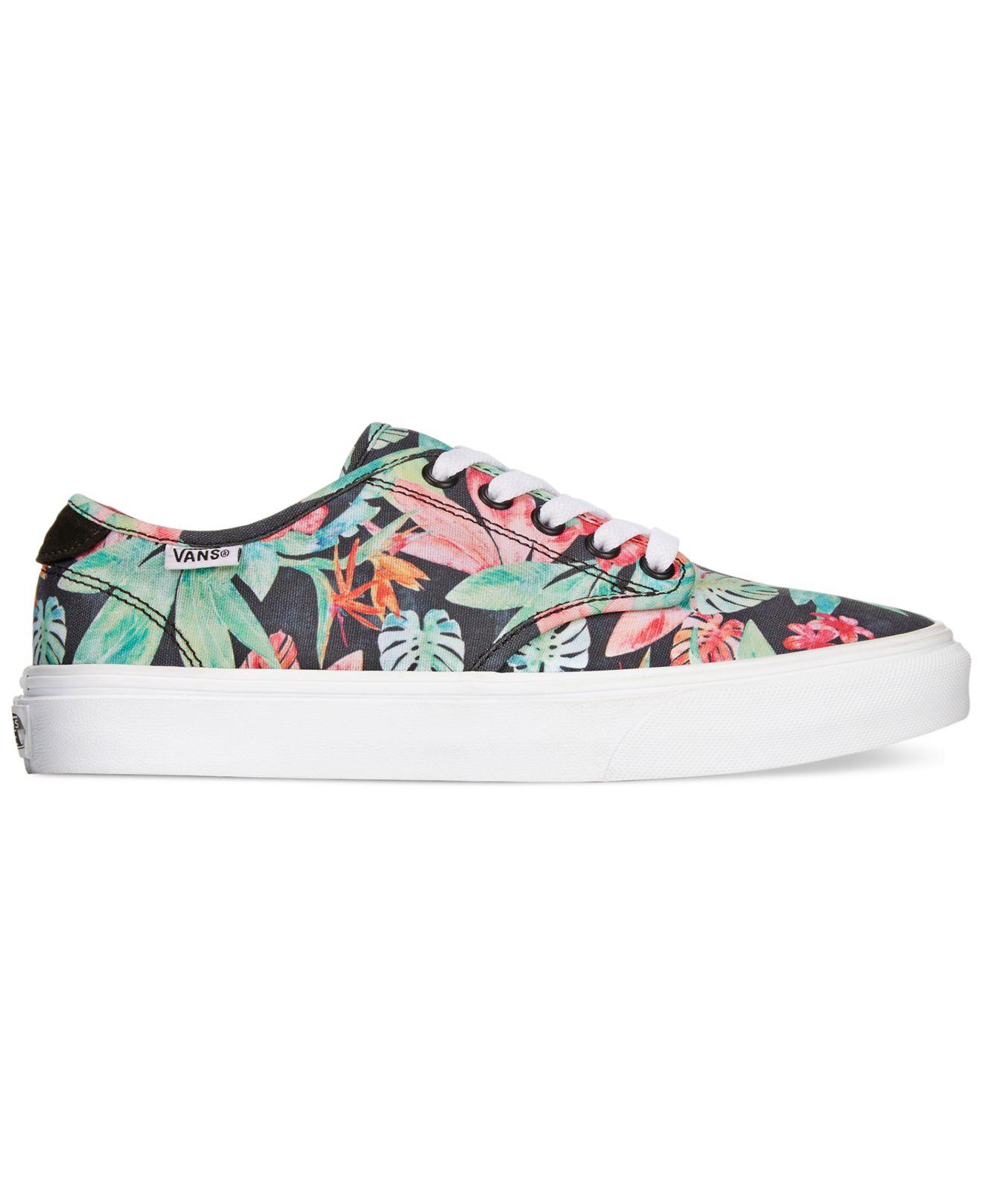 vans floral shoes women