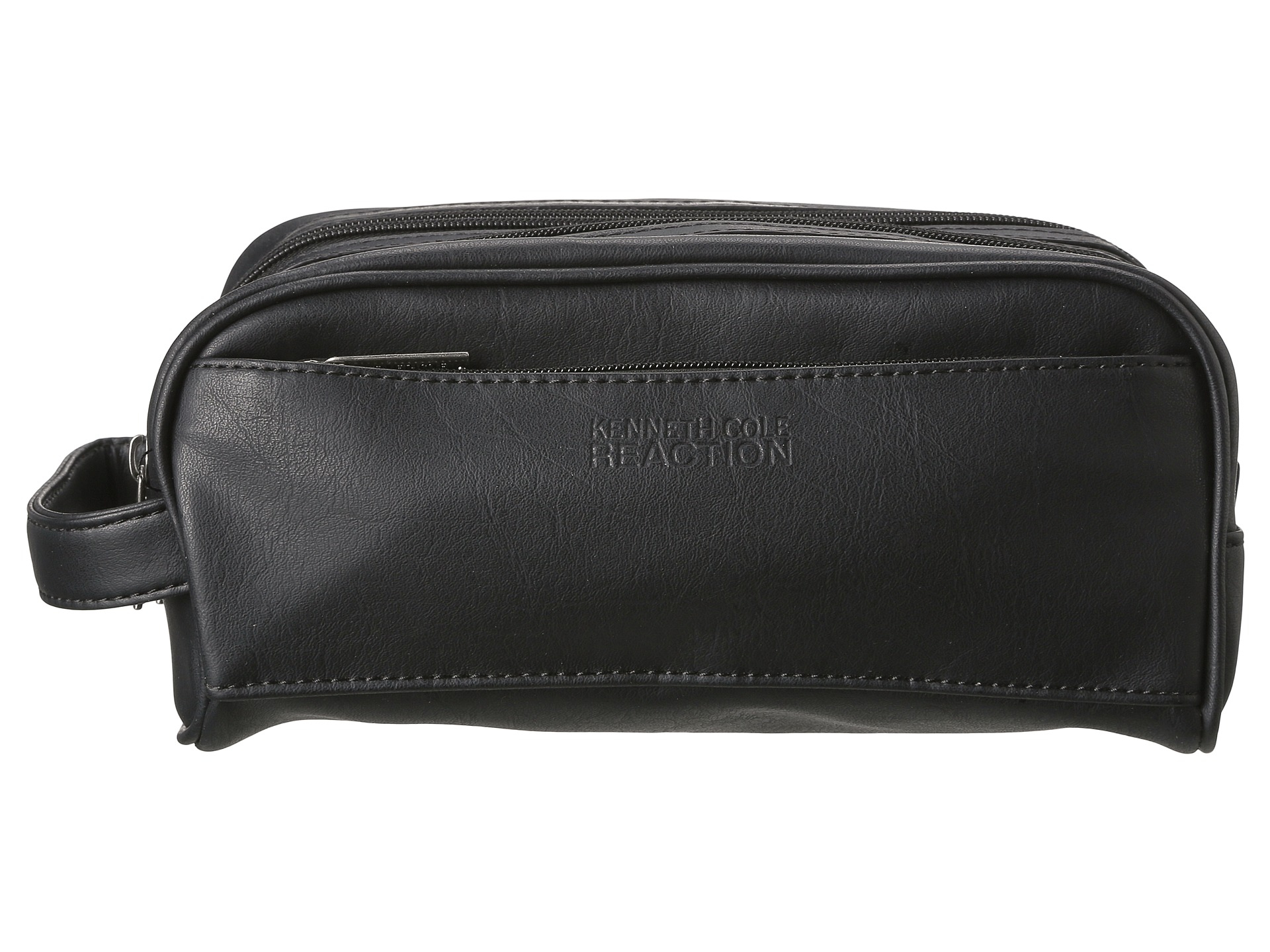 Lyst - Kenneth Cole Reaction Vinyl Double Compartment Top Zip Travel ... 8280785fefd1f