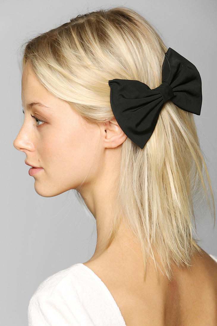 Black bow hair accessories - Gallery
