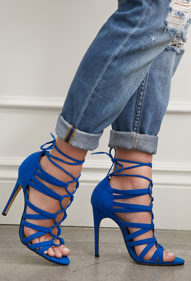 Forever 21 Faux Suede Lace-up Pumps You ve Been Added To The ... 98ce86e84