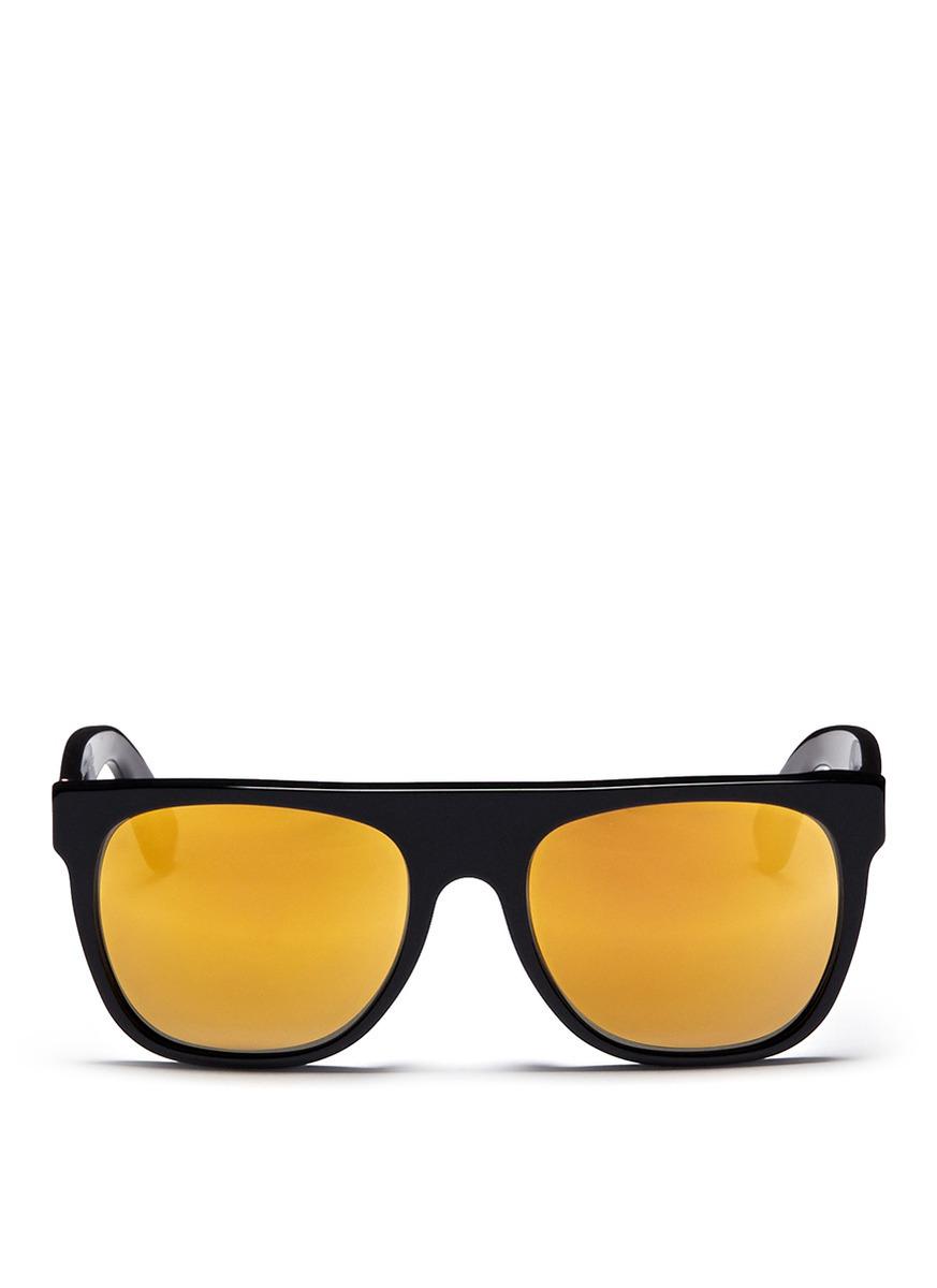 Retrosuperfuture Flat Top 24k Mirror Lense Sunglasses in ...