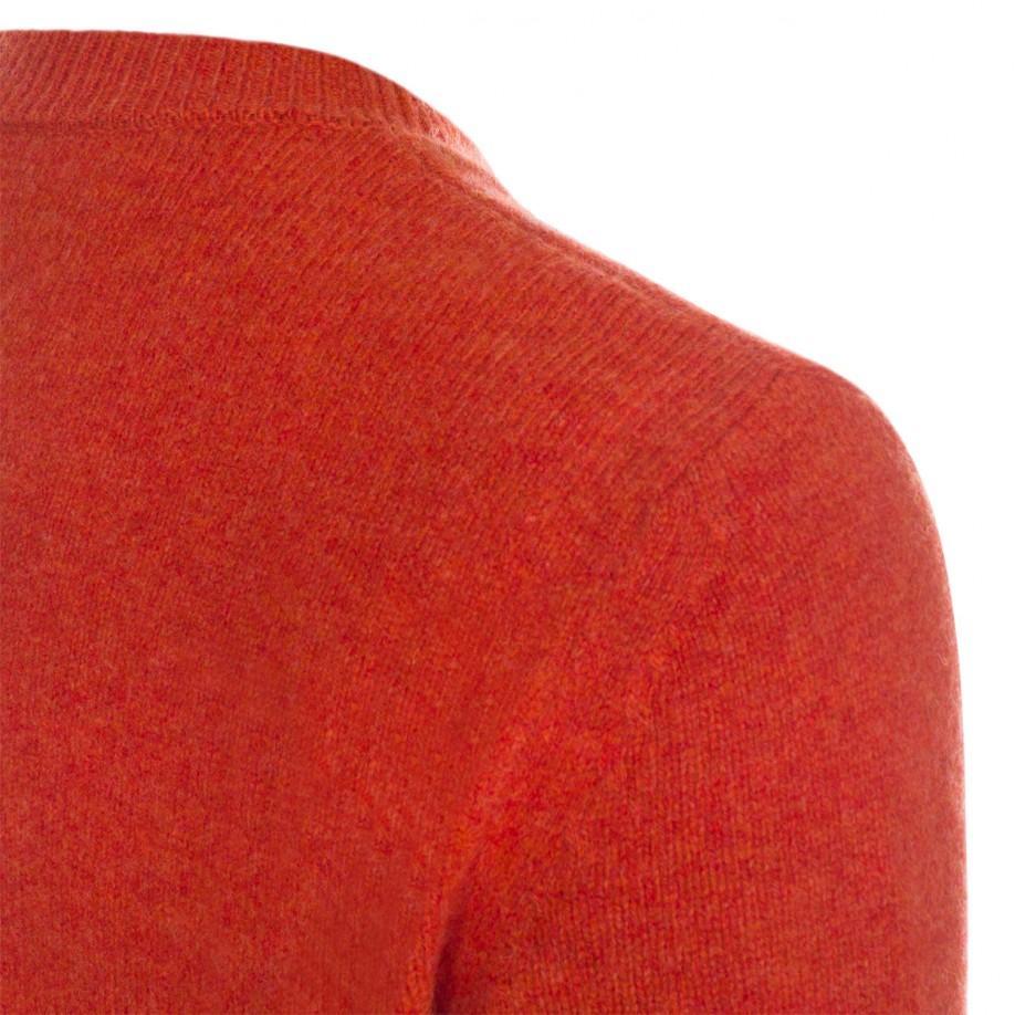 Paul Smith Men'S Burnt Orange Lambswool Knitted Sweater for Men