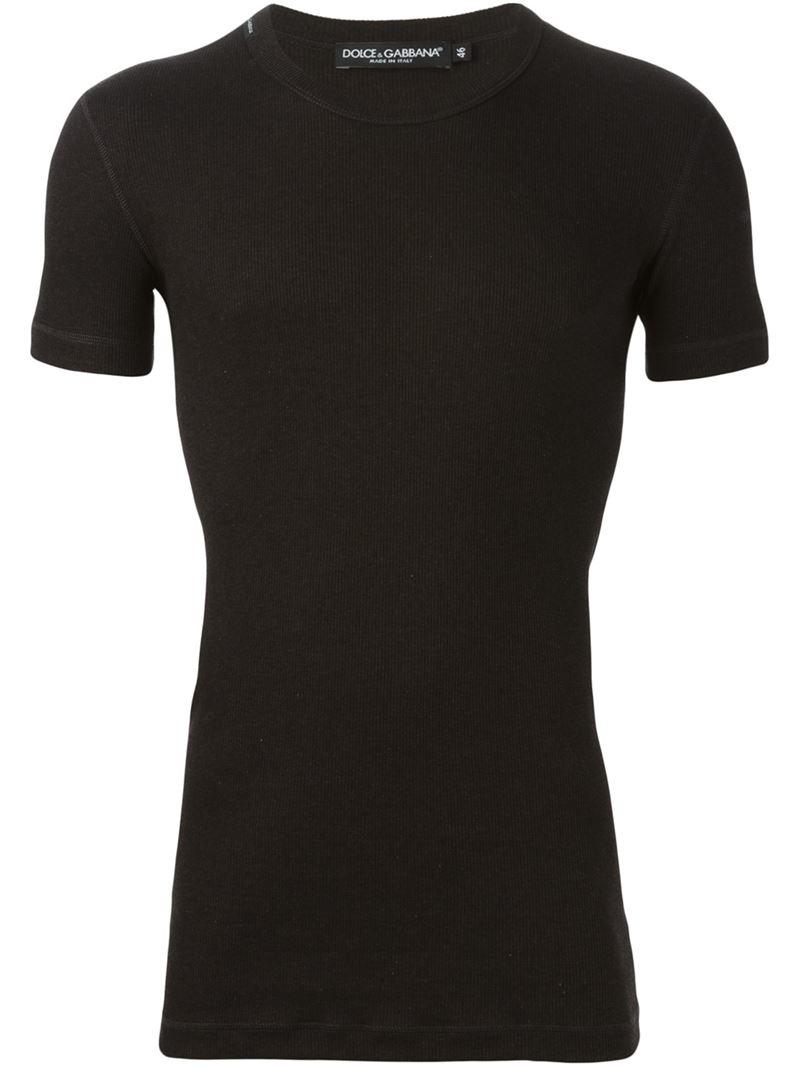 lyst dolce gabbana fitted t shirt in black for men. Black Bedroom Furniture Sets. Home Design Ideas