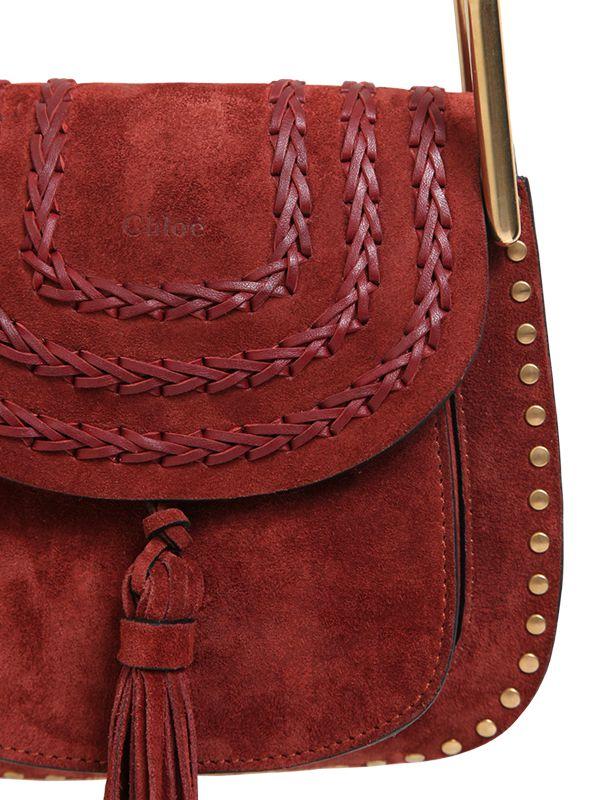 see by chloe bags shop online - chloe black suede braided mini hudson bag, replica chloe bag