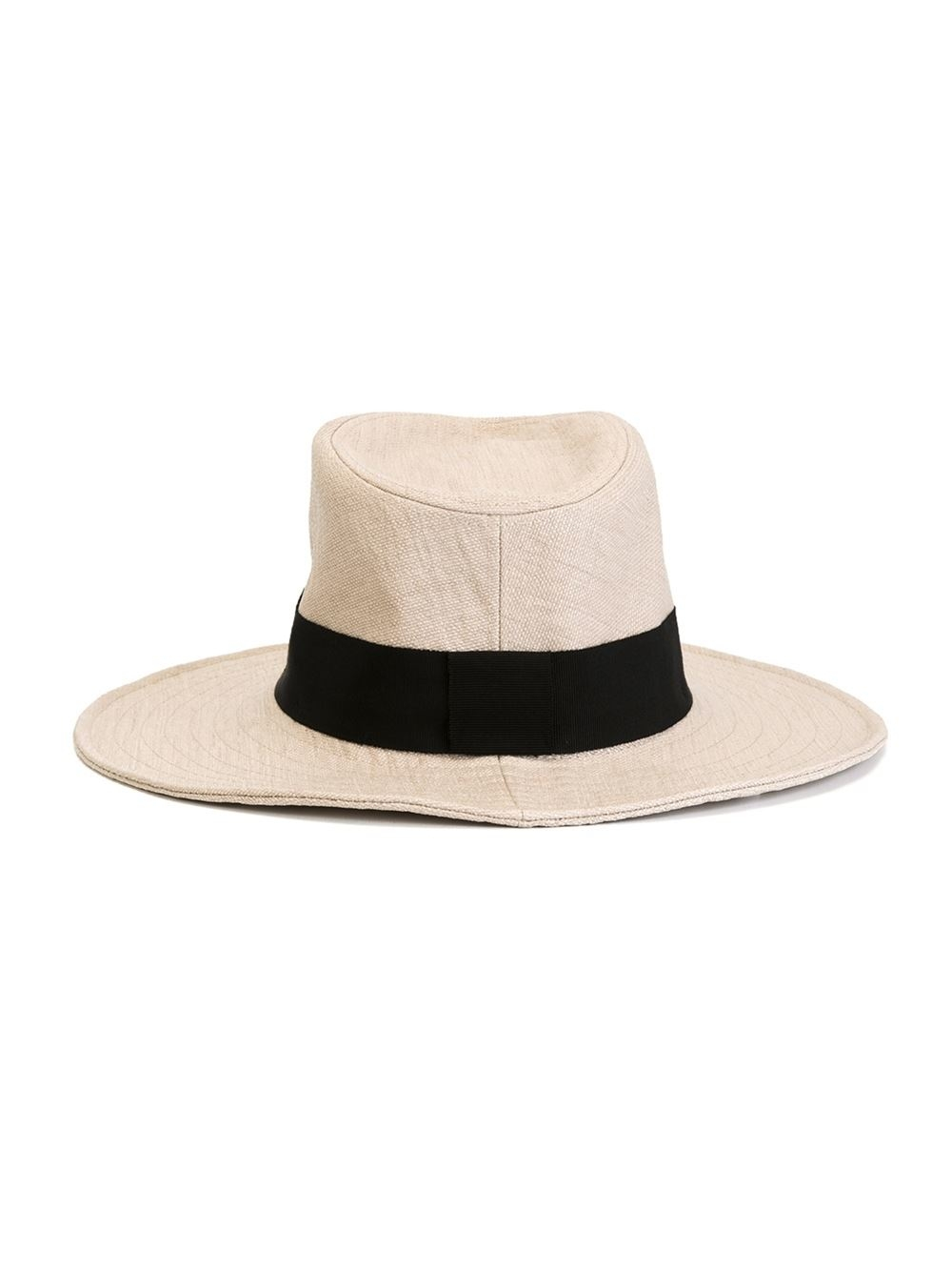 Maison michel charles straw hat in black lyst for Maison michel