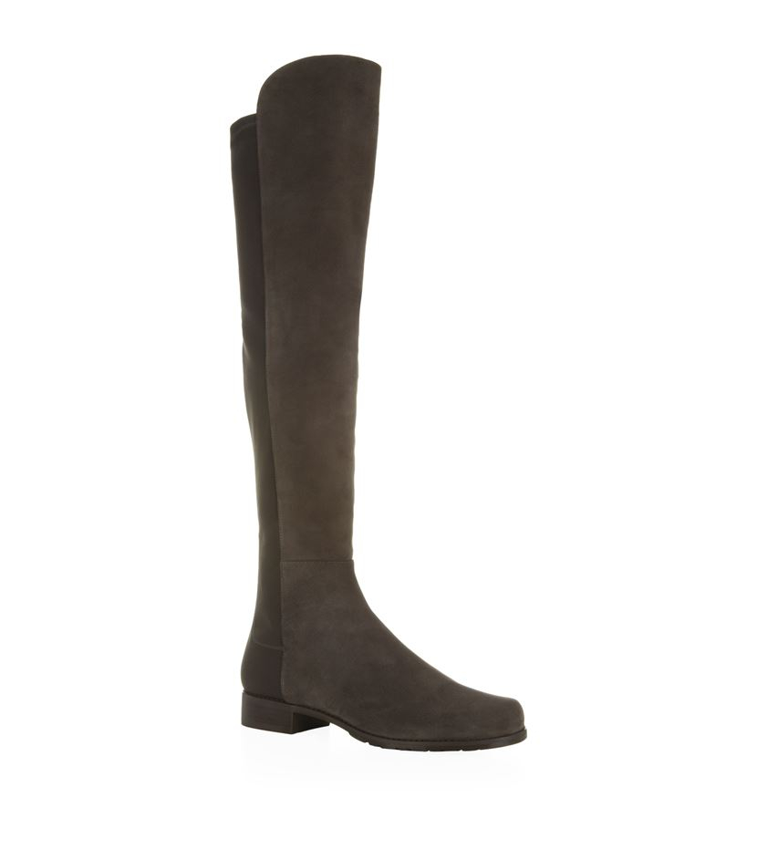 stuart weitzman 5050 suede the knee boot in gray lyst
