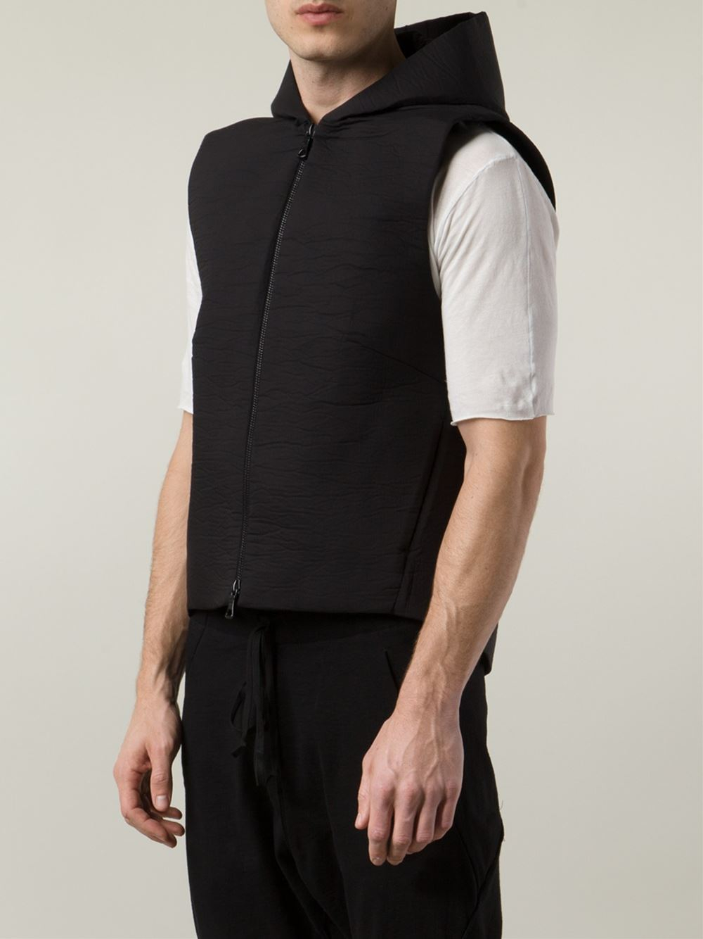 Song For The Mute Hooded Vest in Black for Men