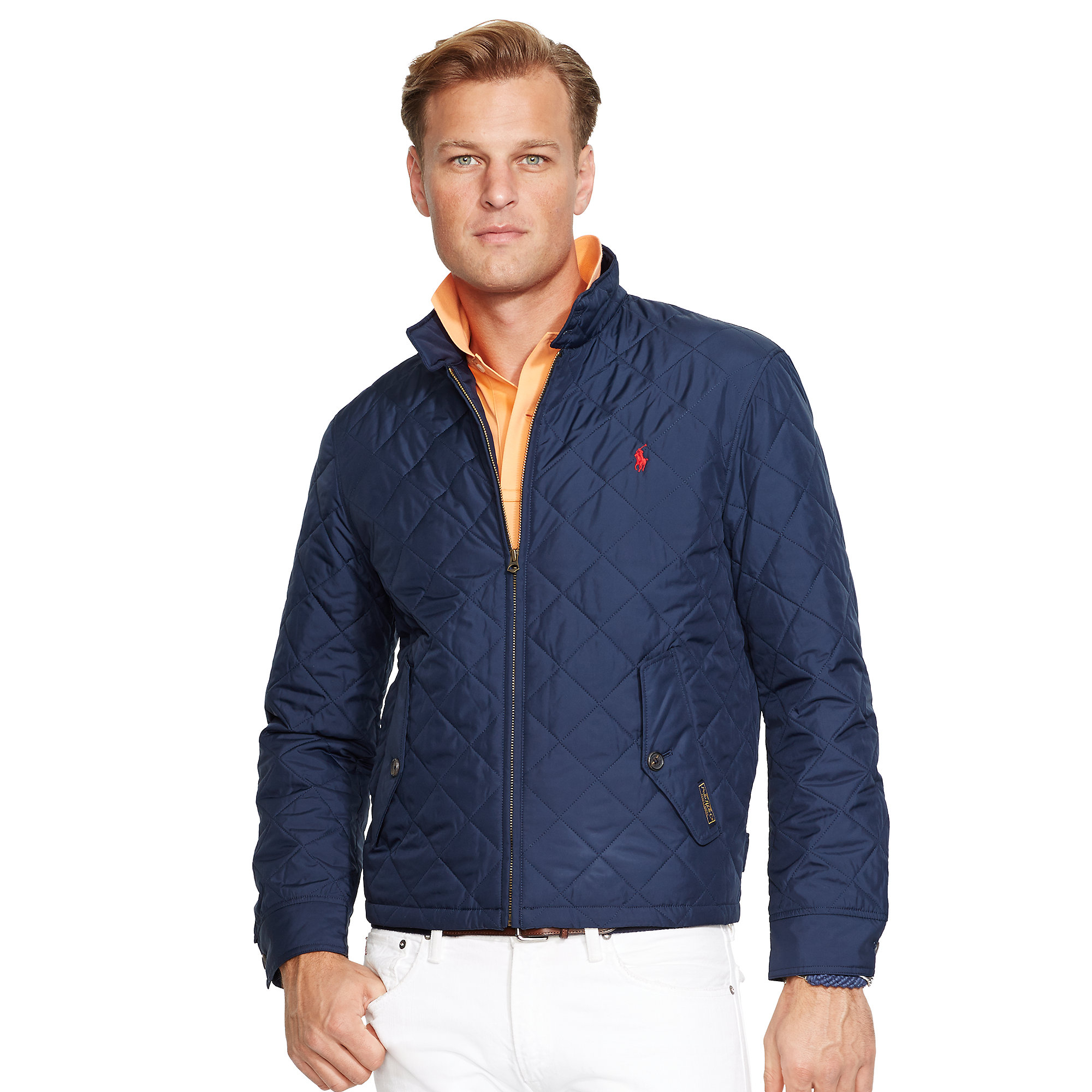 Lyst Ralph Lauren Quilted Full Zip Jacket In Blue For Men