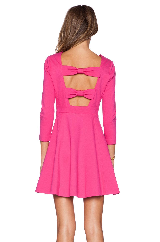Kate Spade New York Ponte Flirty Back Dress In Pink