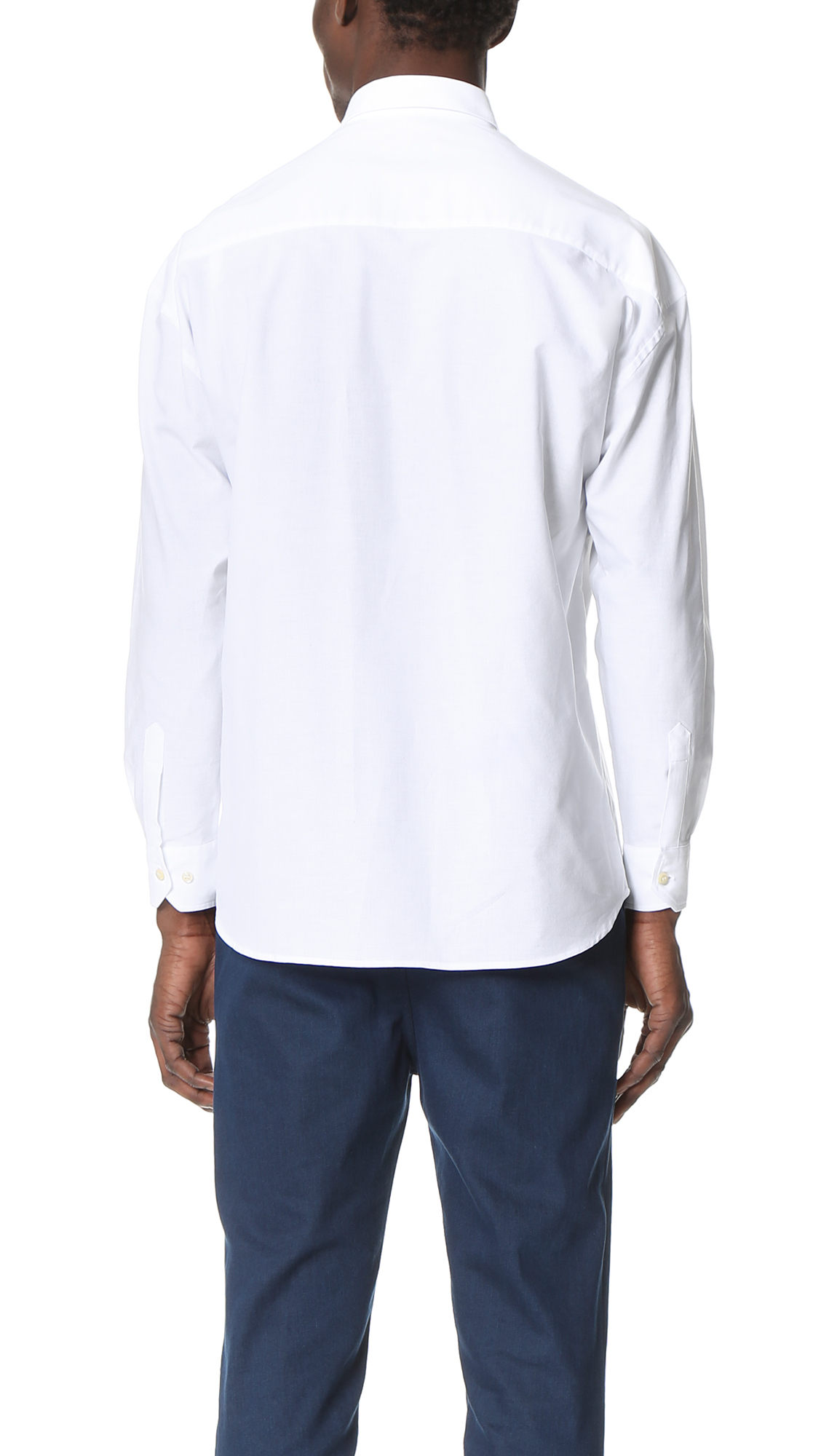 CAMO Cotton Danglar Oxford Overshirt in White for Men